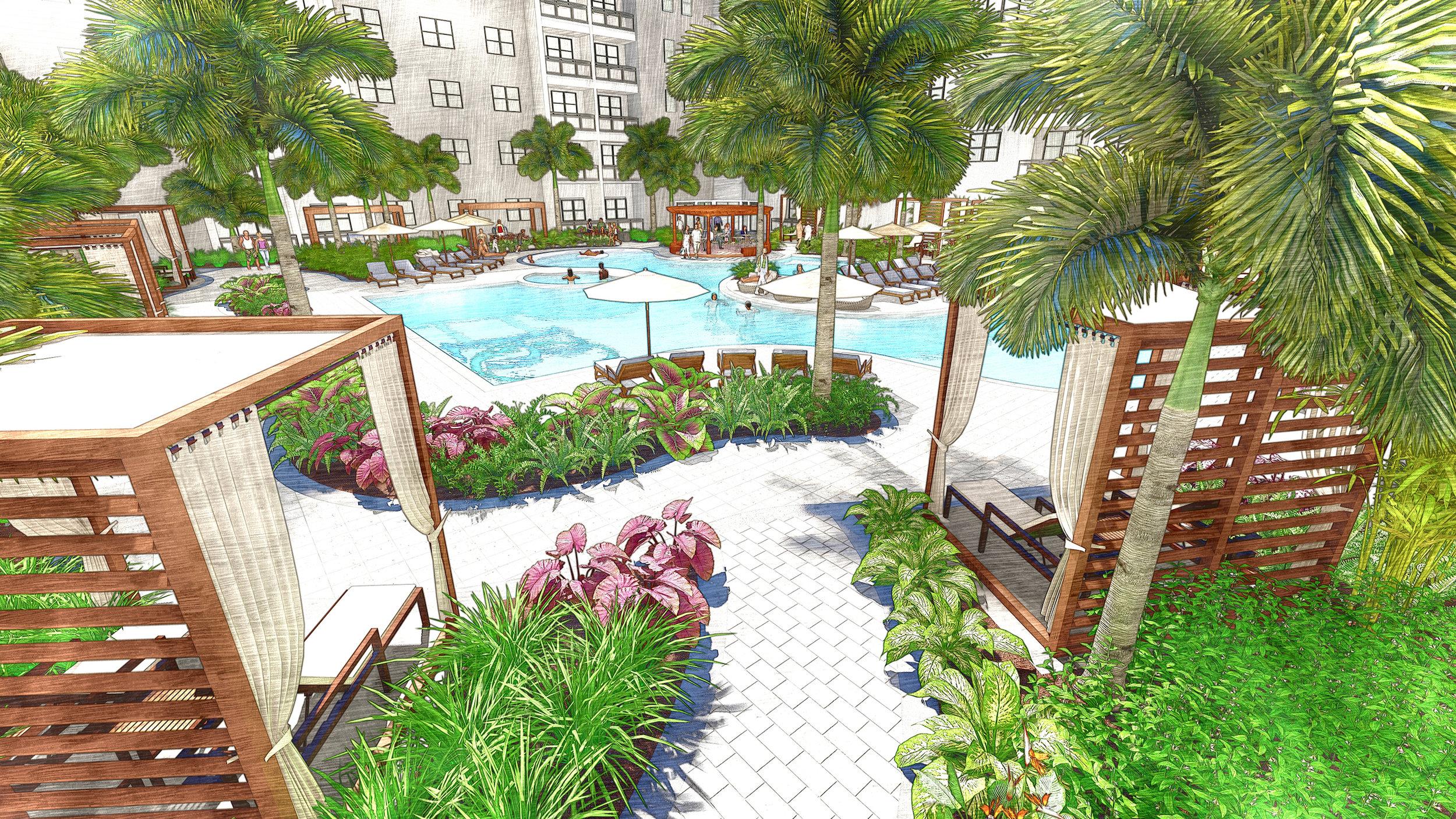 Pool courtyard - People.jpg