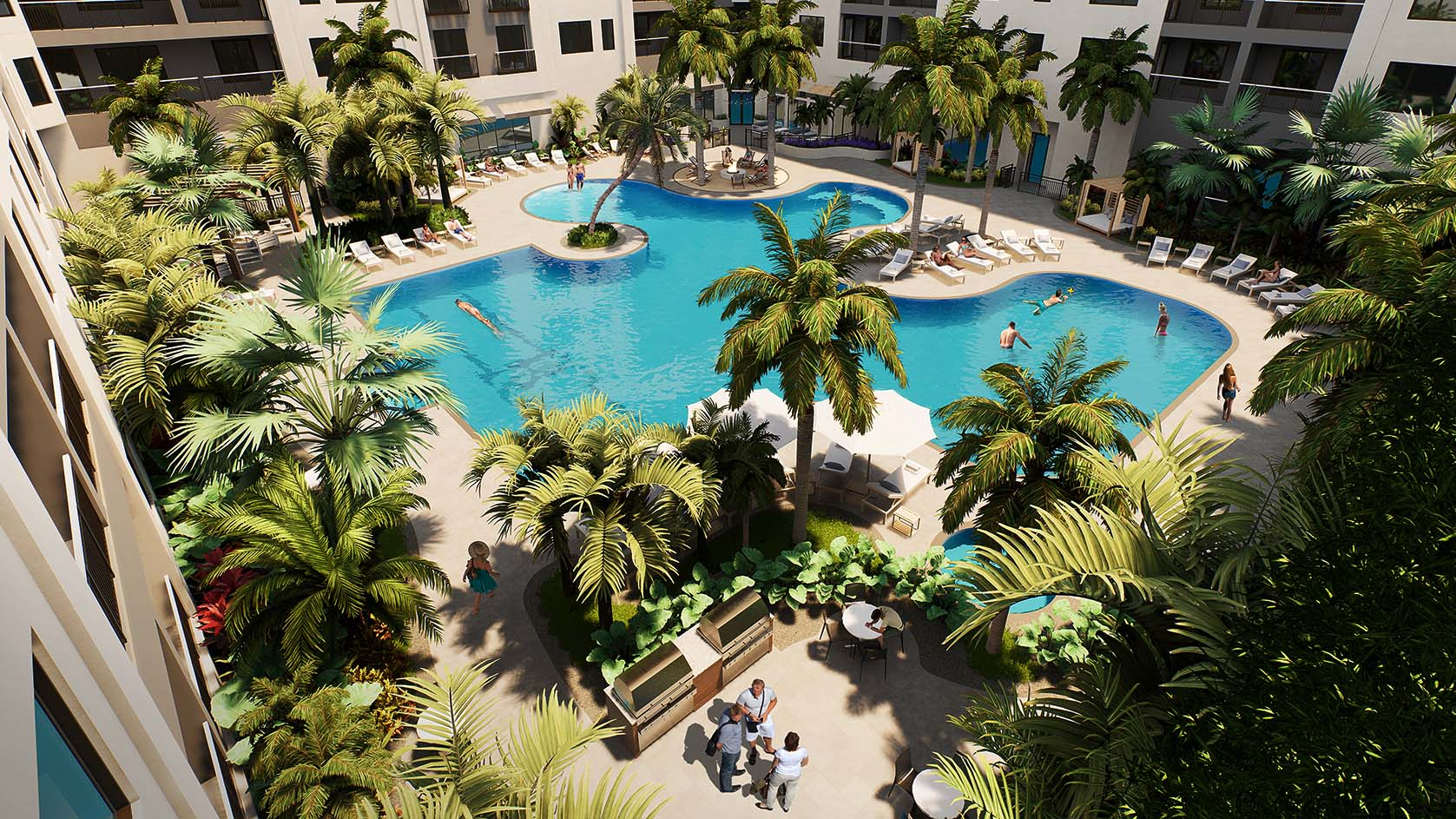 Amenities - A resort-style pool, zen lanai, and rooftop terrace are only the beginning. Explore over 50,000 square feet of unparalleled spaces for living life to the fullest.
