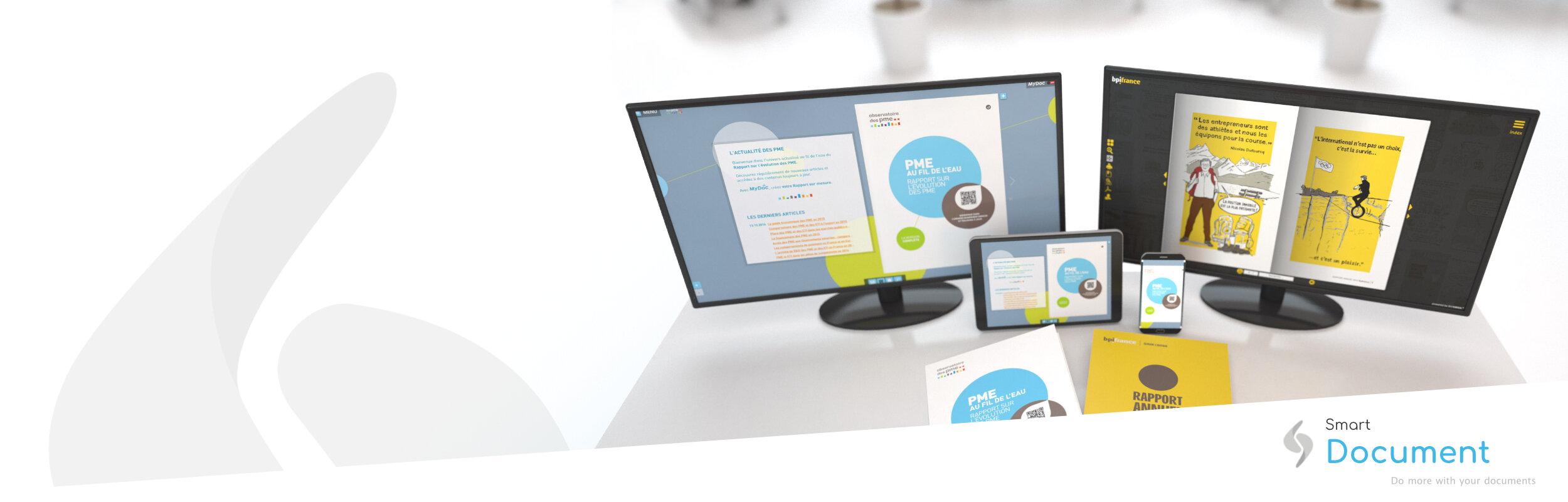 Smart Document - Augmentez l'attractivité de vos documents grâce à des contenus enrichis, interactifs et toujours à jour.