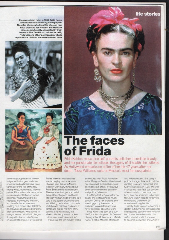 "Marie Claire : ""The Faces of Frida"""