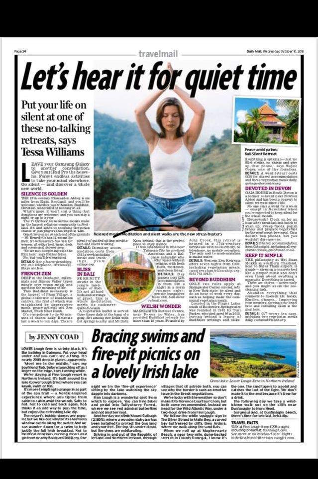 The  The Daily Mail - (Lets Hear it for Quiet Time)