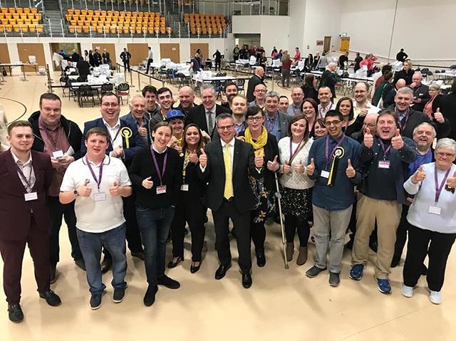 Fantastic win here in Renfrewshire for the SNP with 41.5% of the vote. #EuropeanElection2019 #EUElectionResults