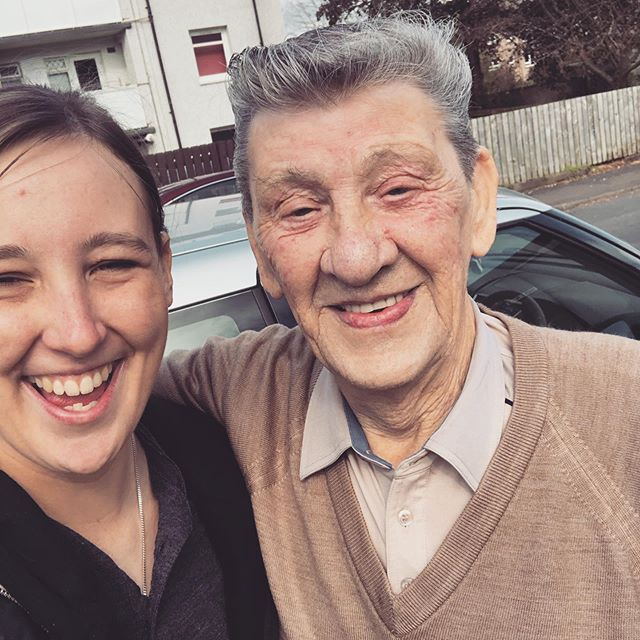 Lovely surprise bumping into Ken McGinley in Johnstone. The man is made of steel and is still going strong. Happy 81st birthday Ken! 🥳🎉