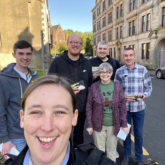 Smashing morning for some leafleting in the west end of Paisley. 😎🌞 #activesnp #TeamRenfrewshire