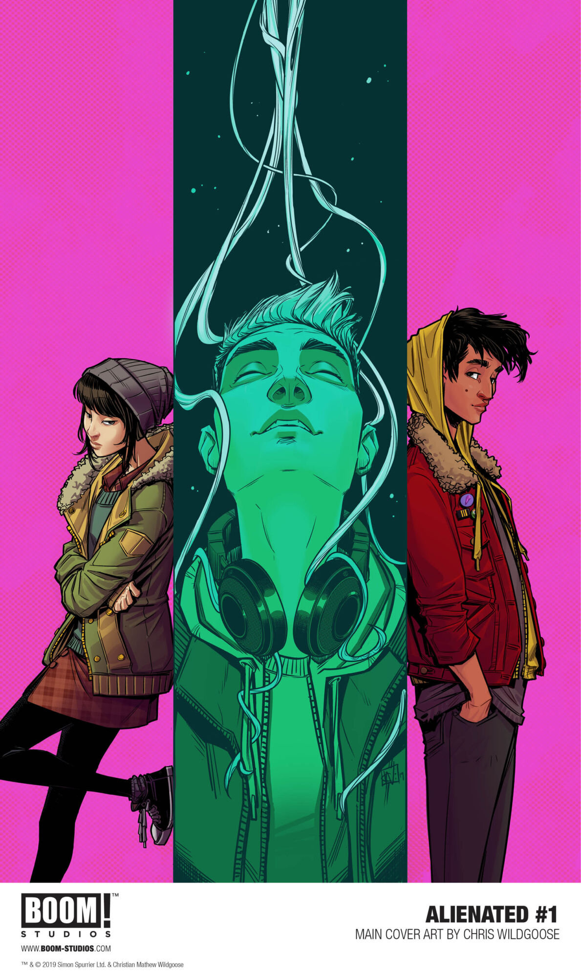 Main cover for Issue #1, art by Christian Wildgoose