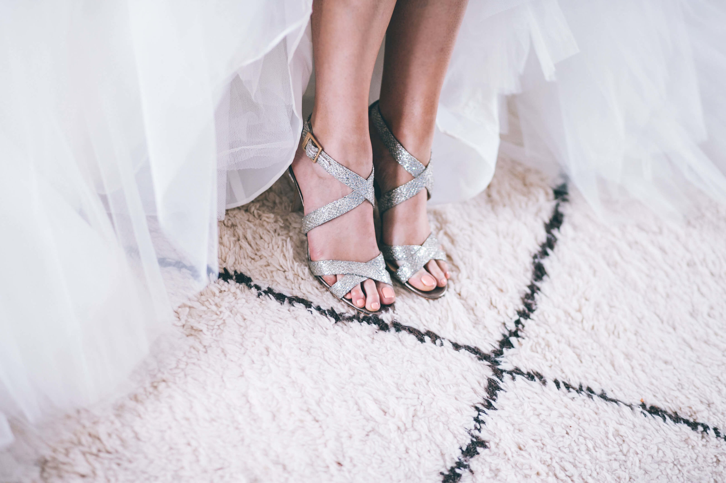 Modern bride with Jimmy Choos