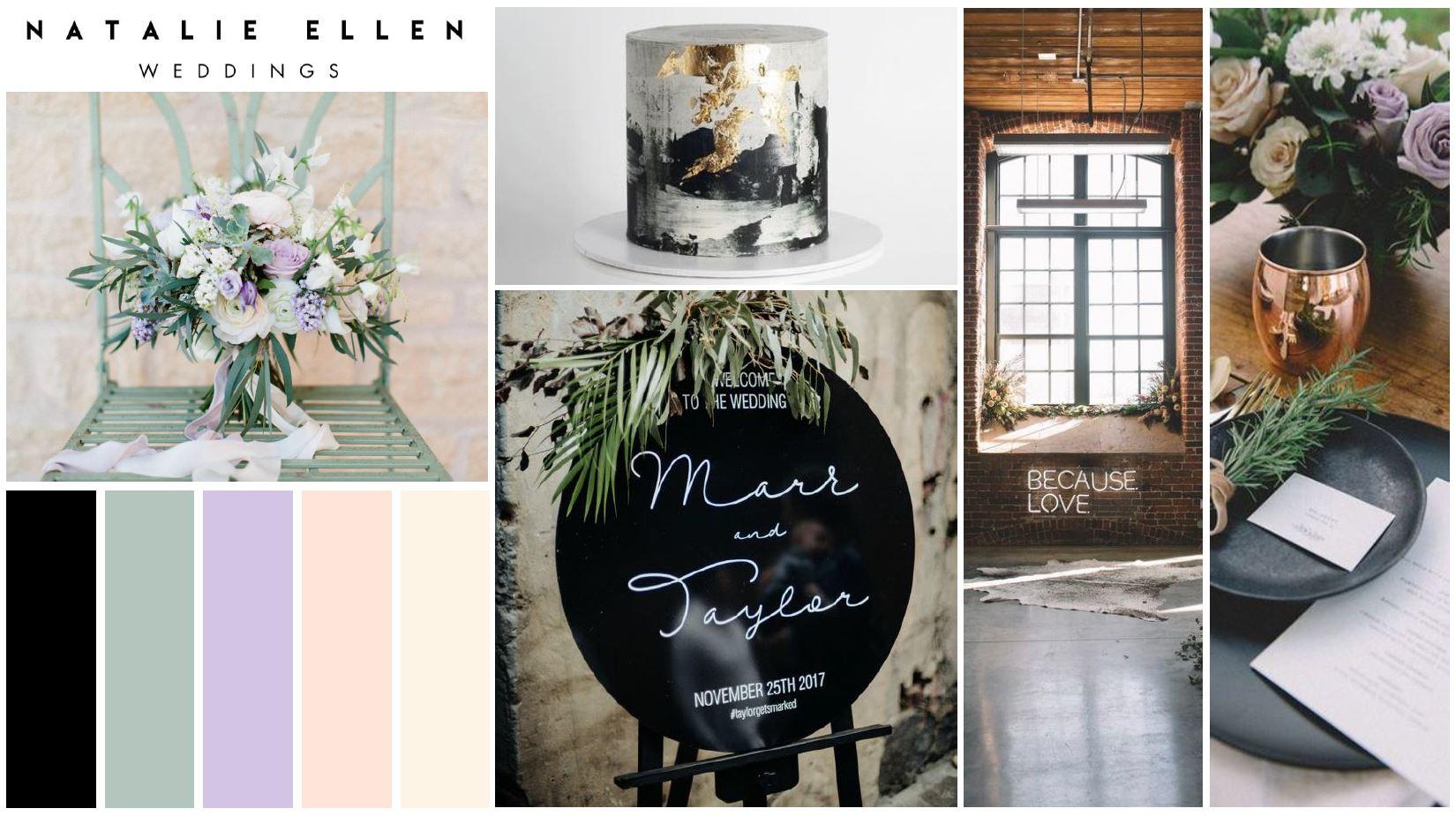 Natalie Ellen Weddings moodboard to define wedding style