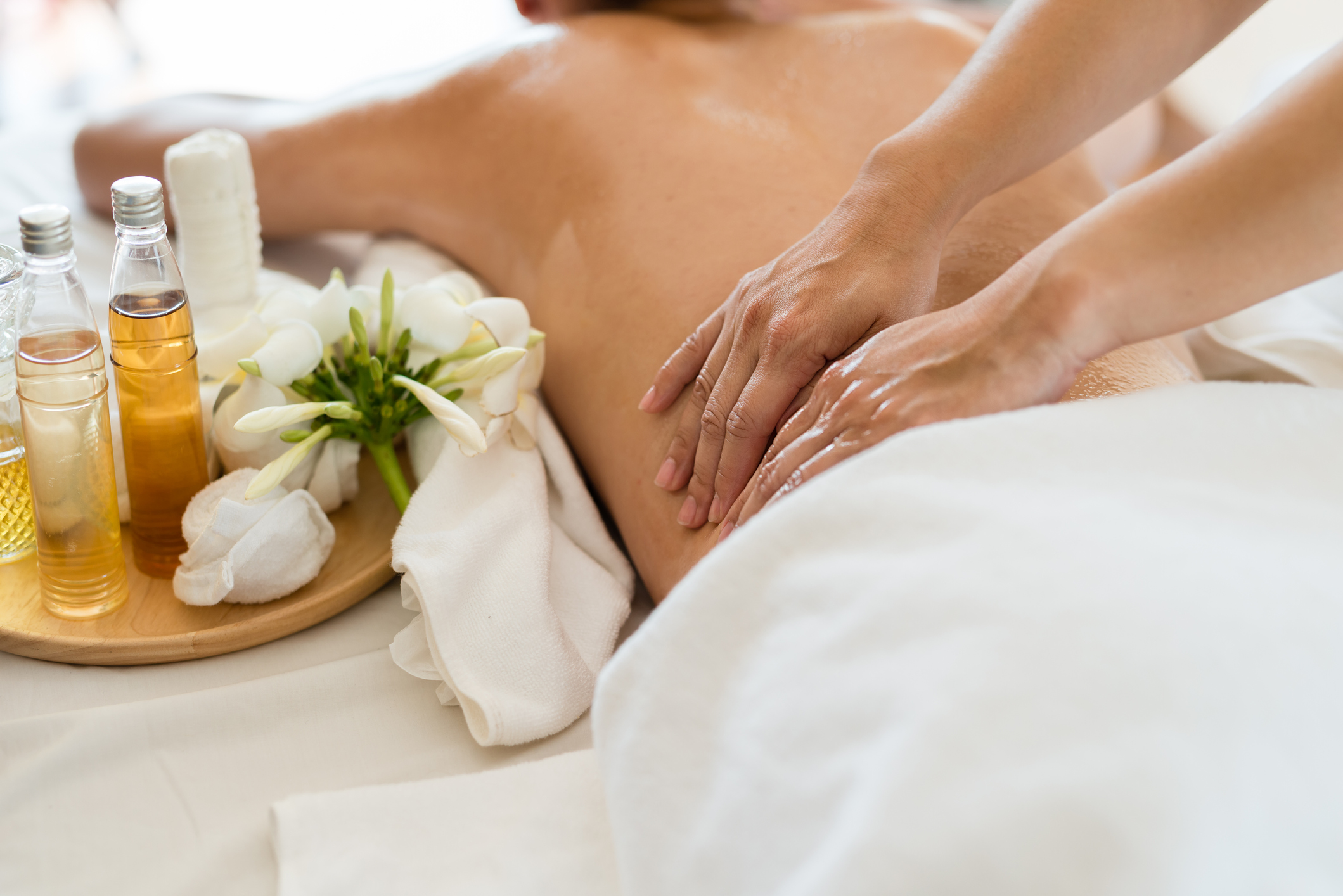 Aromatherapy - A light massage imbued with the healing properties of organic essential oils to suit your emotional and physical needs.