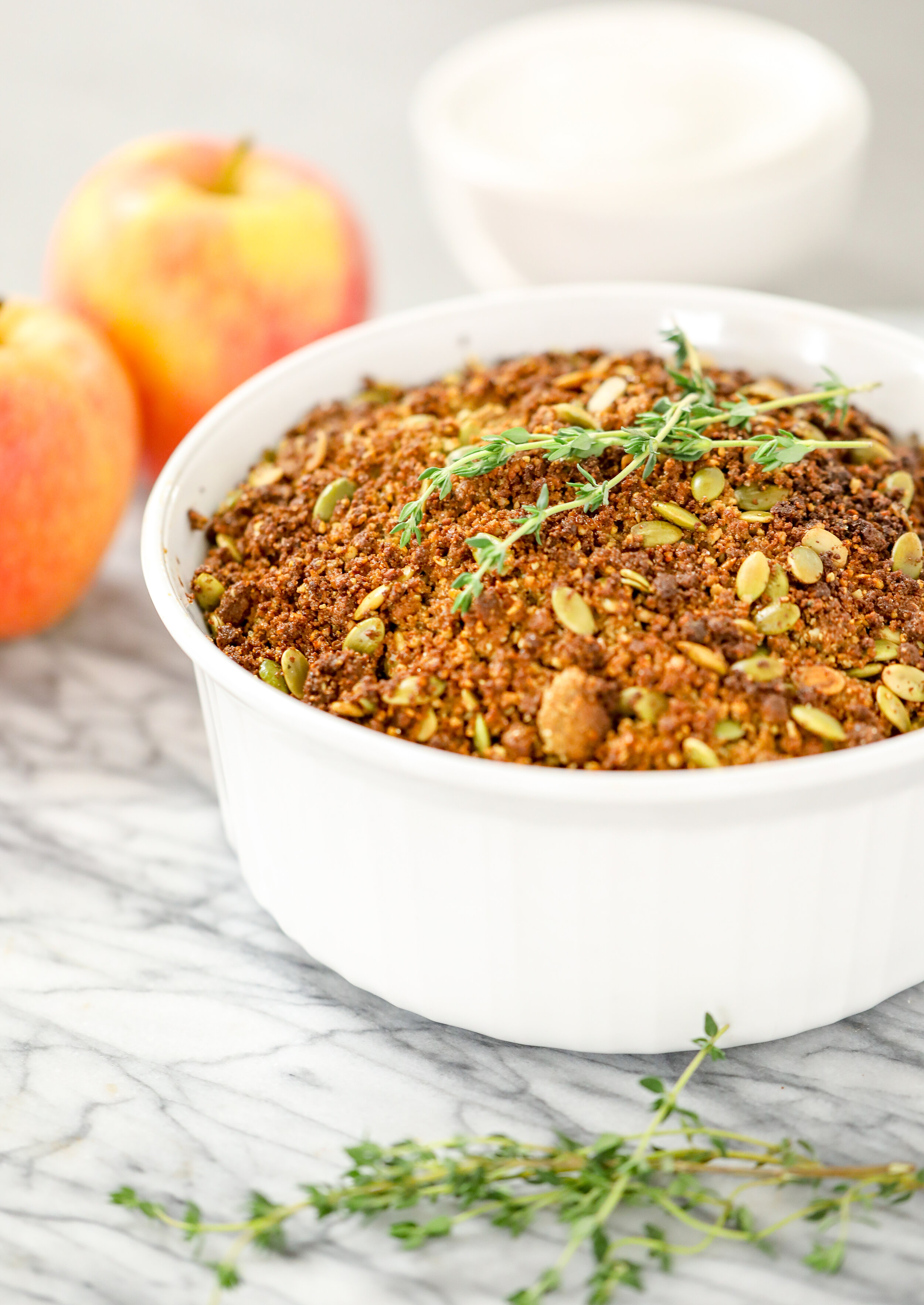 Healthy Apple Crisp with Empower Bar Crumble