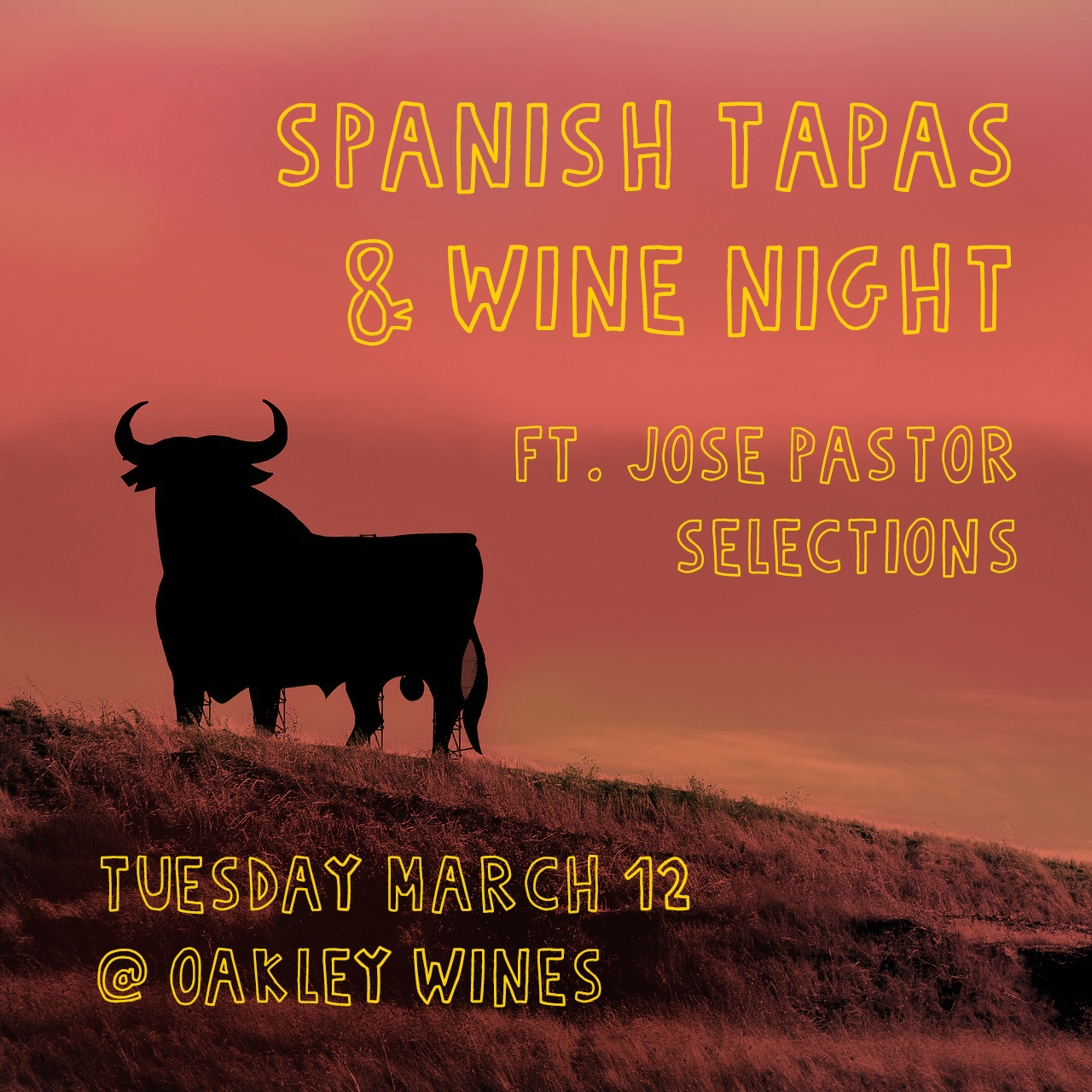 - Spanish Wines + Spanish Tapas (including cheese selections from The Rhined)Enjoy (new to Cincinnati) Spanish wines from importer Jose Pastor Selections. To accompany, Bryan Harris, will be popping up in Oakley Wines' kitchen serving up a small menu of Spanish tapas. Spanish cheese from The Rhined will be available as well. Wine, gin & tonics, Basque ciders, and sherry will be flowing all paired with exceptional tapas and cheese from various regions in Spain.
