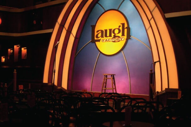 An Evening of Laughs - 4 tickets to the Laugh Factory; $100 Gift certificates to Hope's Café Catering at Kilroy's.Valued at $180Starting bid $80