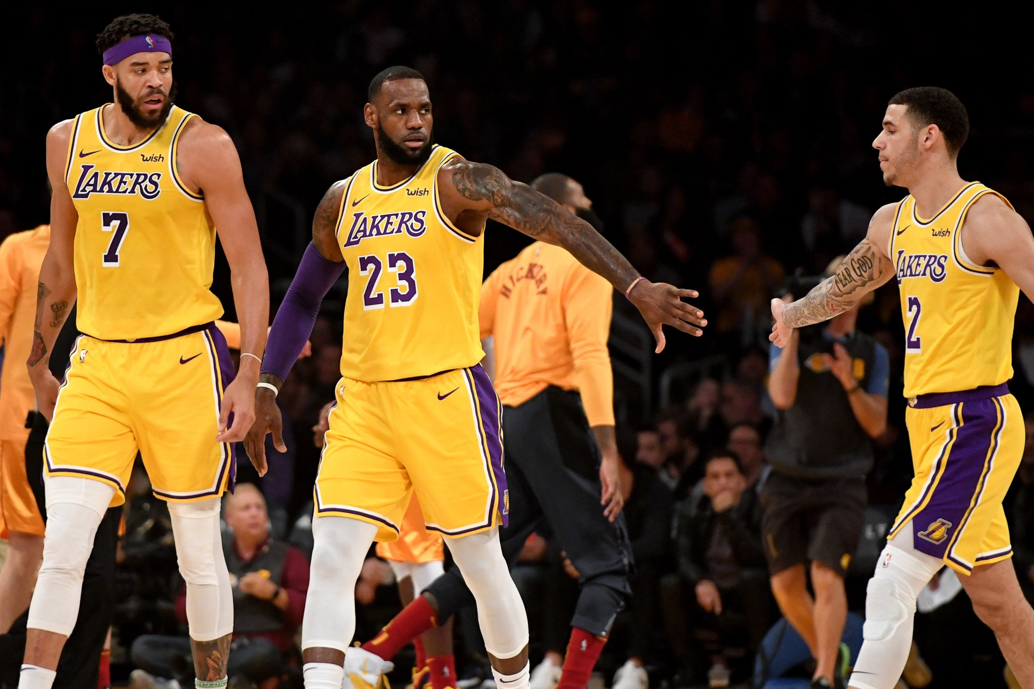 Lakers Tickets - 2 Tickets to a 2019-2020 regular season game in Section 205, Row 1, Seats 1 & 2. Includes a Lakers-themed Build-a-Bear.Valued at $225Starting bid $100