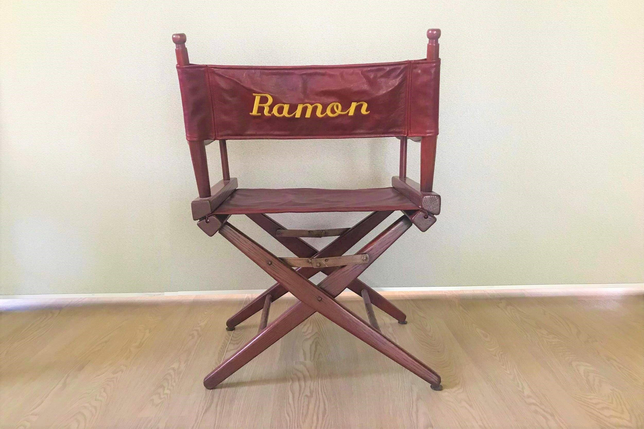 "Martin Sheen Studio Chair - Martin Sheen's studio chair donated by the Sheen Family, featuring the actor's real name: Ramon. 32"" tall.Valued as pricelessStarting bid $80"