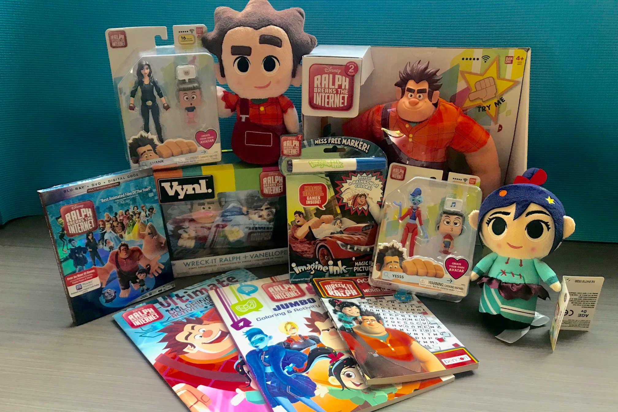 "Disney Collectibles #2 - An assortment of ""Ralph Breaks the Internet"" itemsTotal value TBAStarting Bid $60"