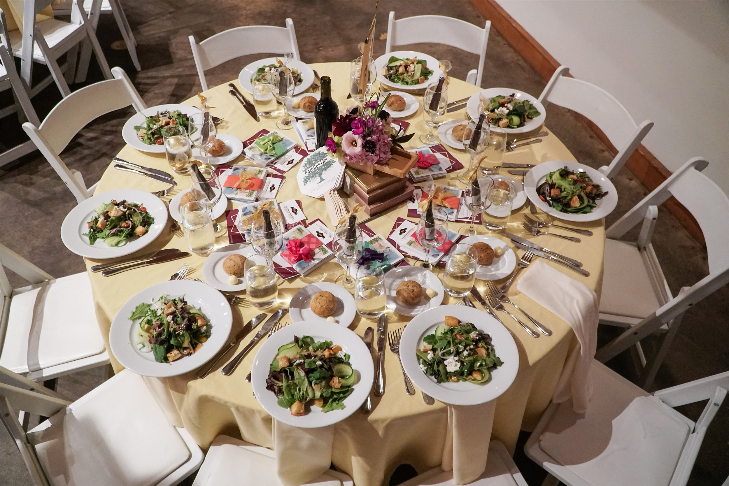 Aerial Shot of Tablescape