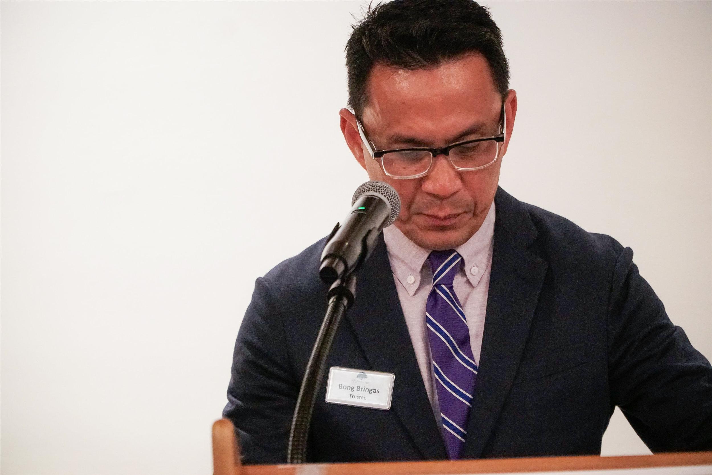 Bong Bringas, MVGH trustee