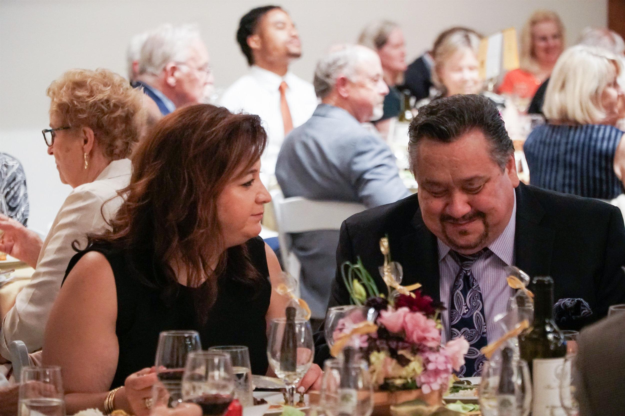 Chef Melanie Shalchian from MVGH, with Gala guest