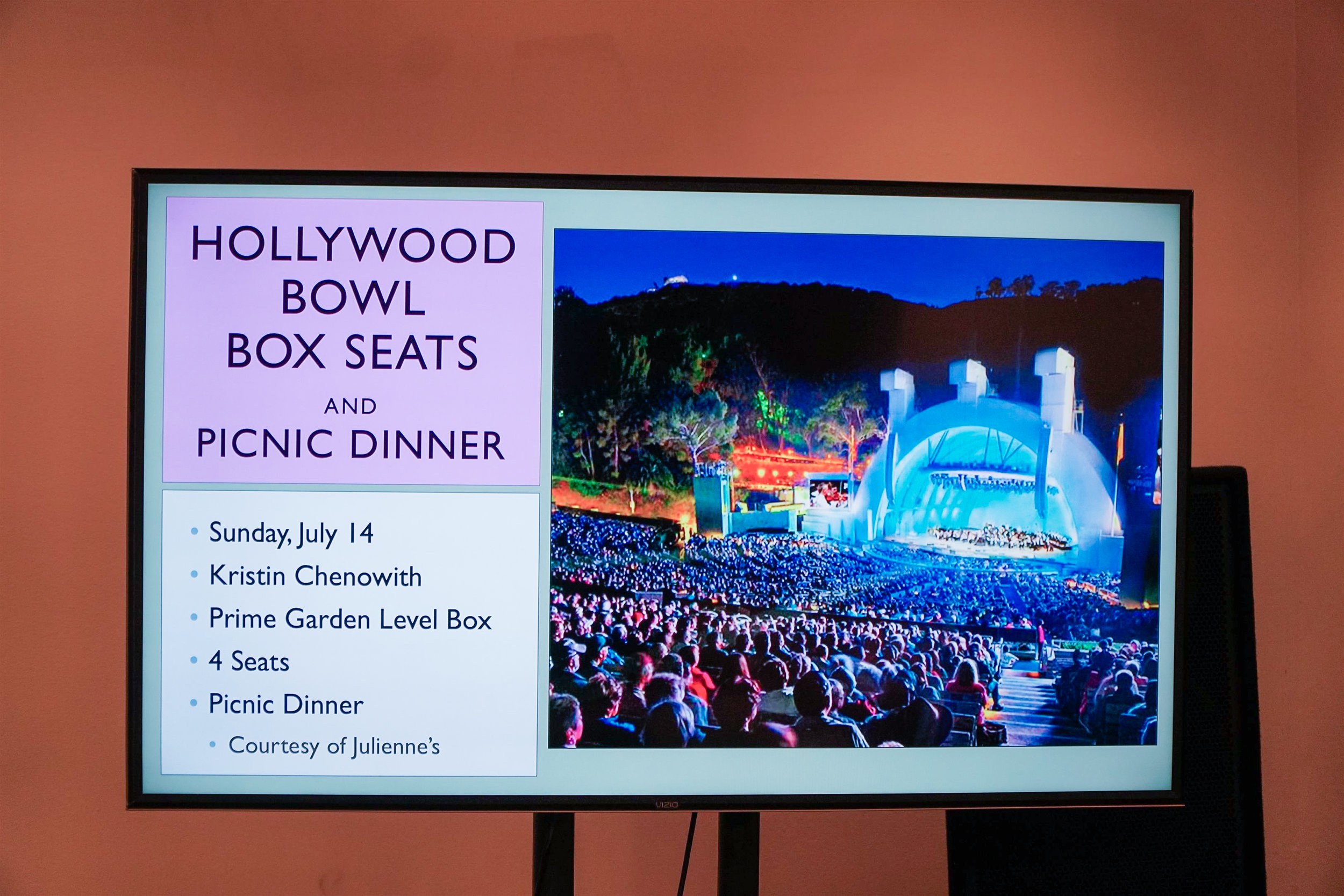 Hollywood Bowl Box Seats -Live Auction