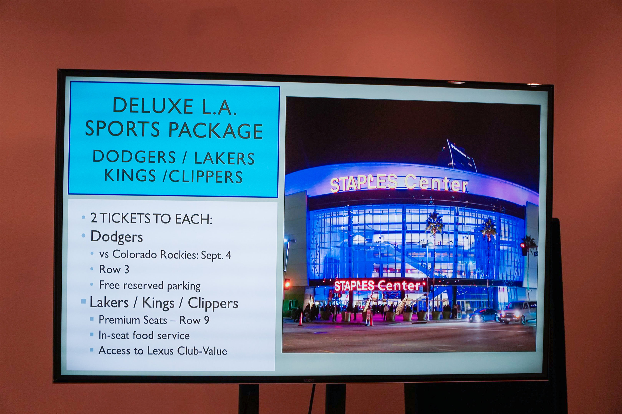 Deluxe L.A. Sports Package