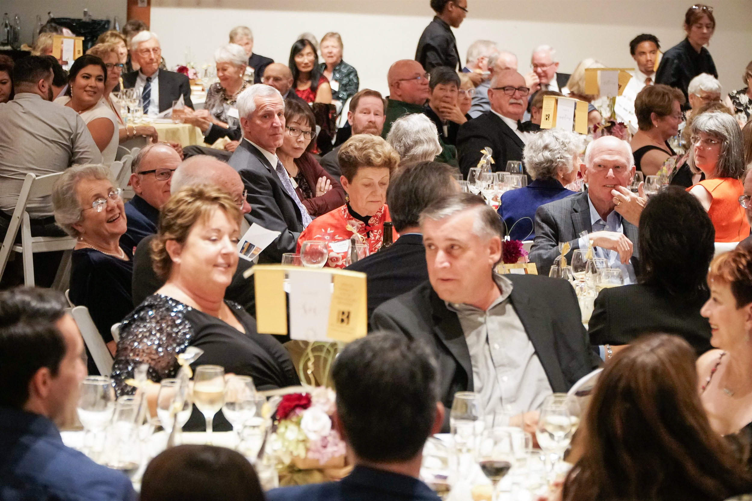 Steve and Nancy Mandic among guests.