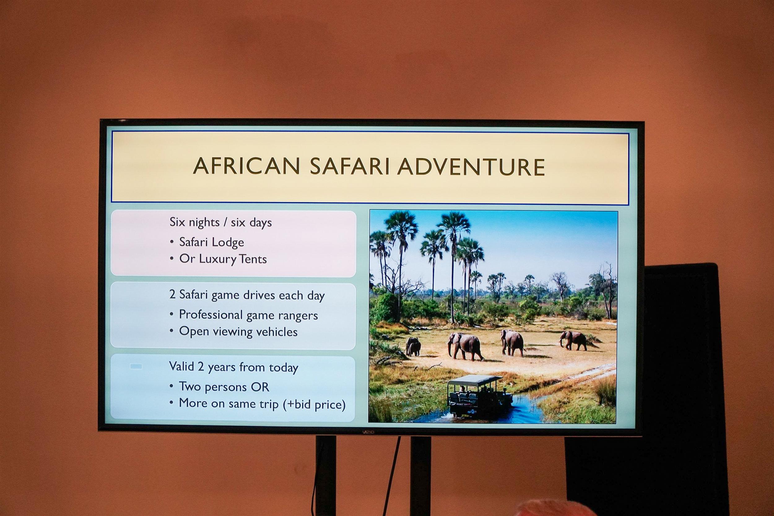 African Safari Live Auction