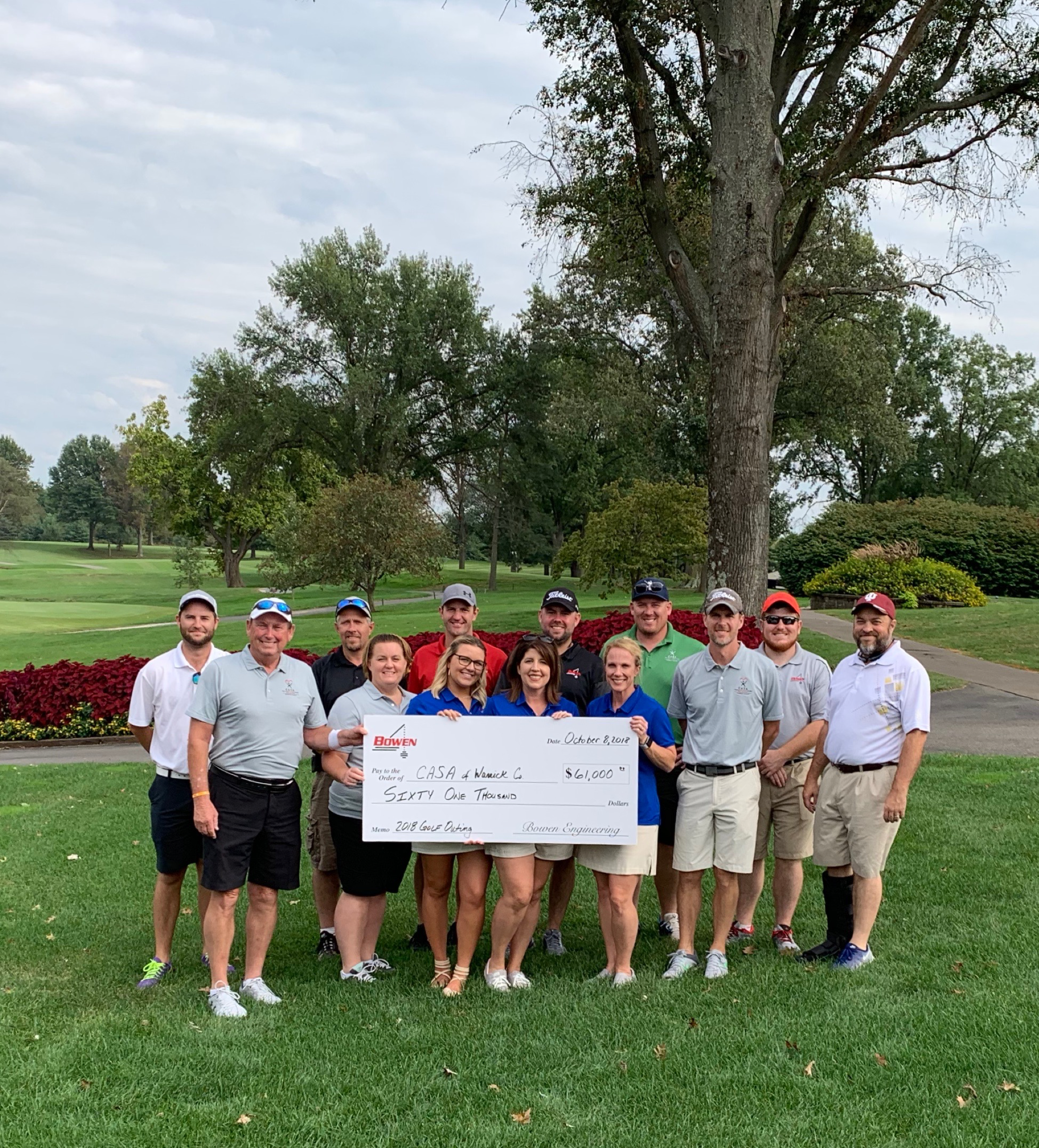 Bowen raised $61,000 in a golf tournament for CASA (Court Appointed Special Advocates) an organization that serves neglected and abused children.
