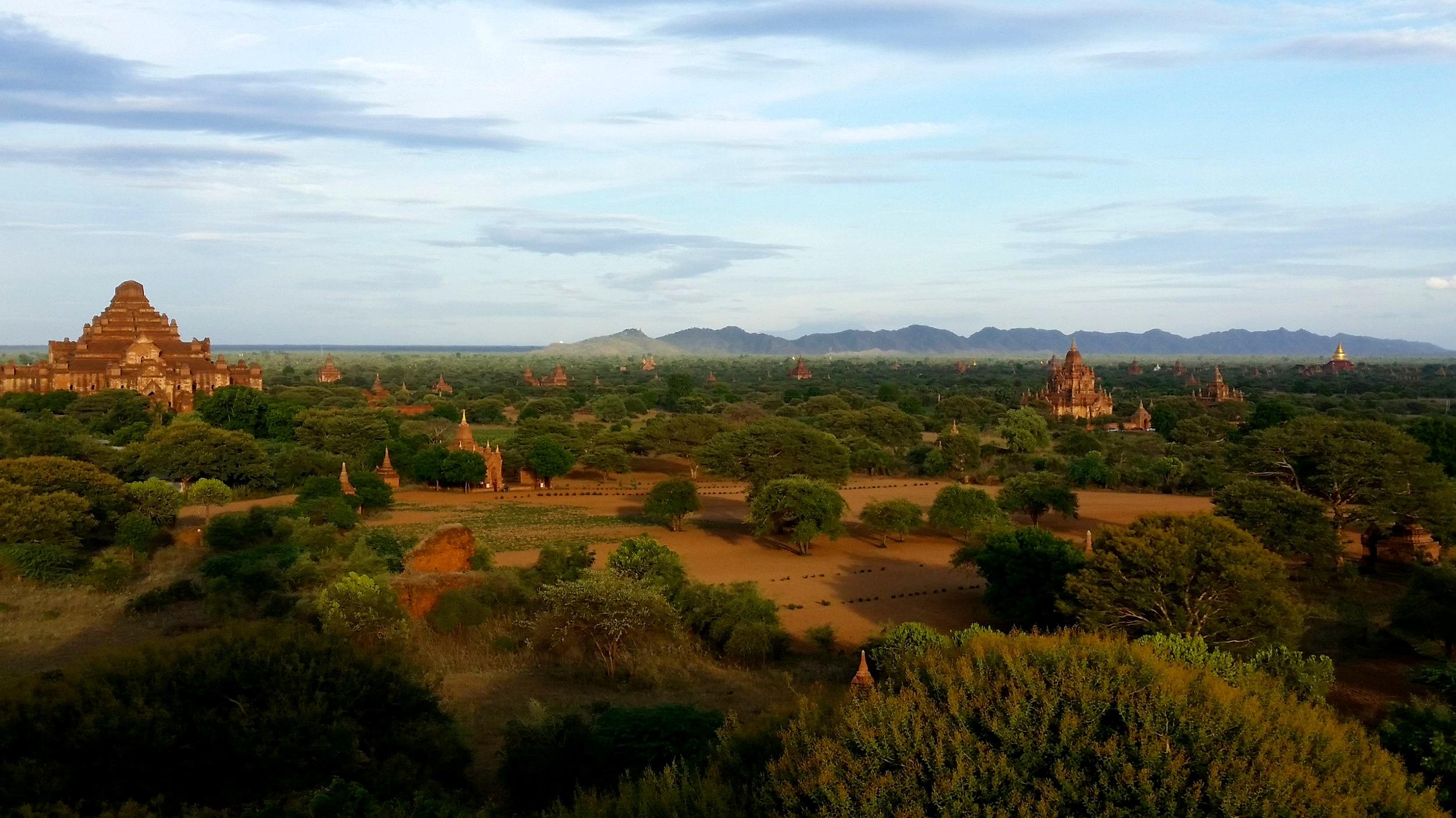 'Bagan' myself some rubbish traveller friends, in Bagan.