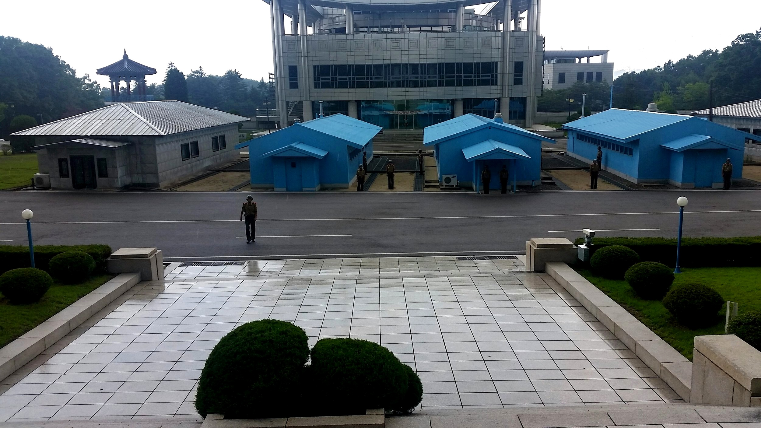 The DMZ. Many North Koreans are led to believe the border is in place to prevent South Koreans from escaping into the North.