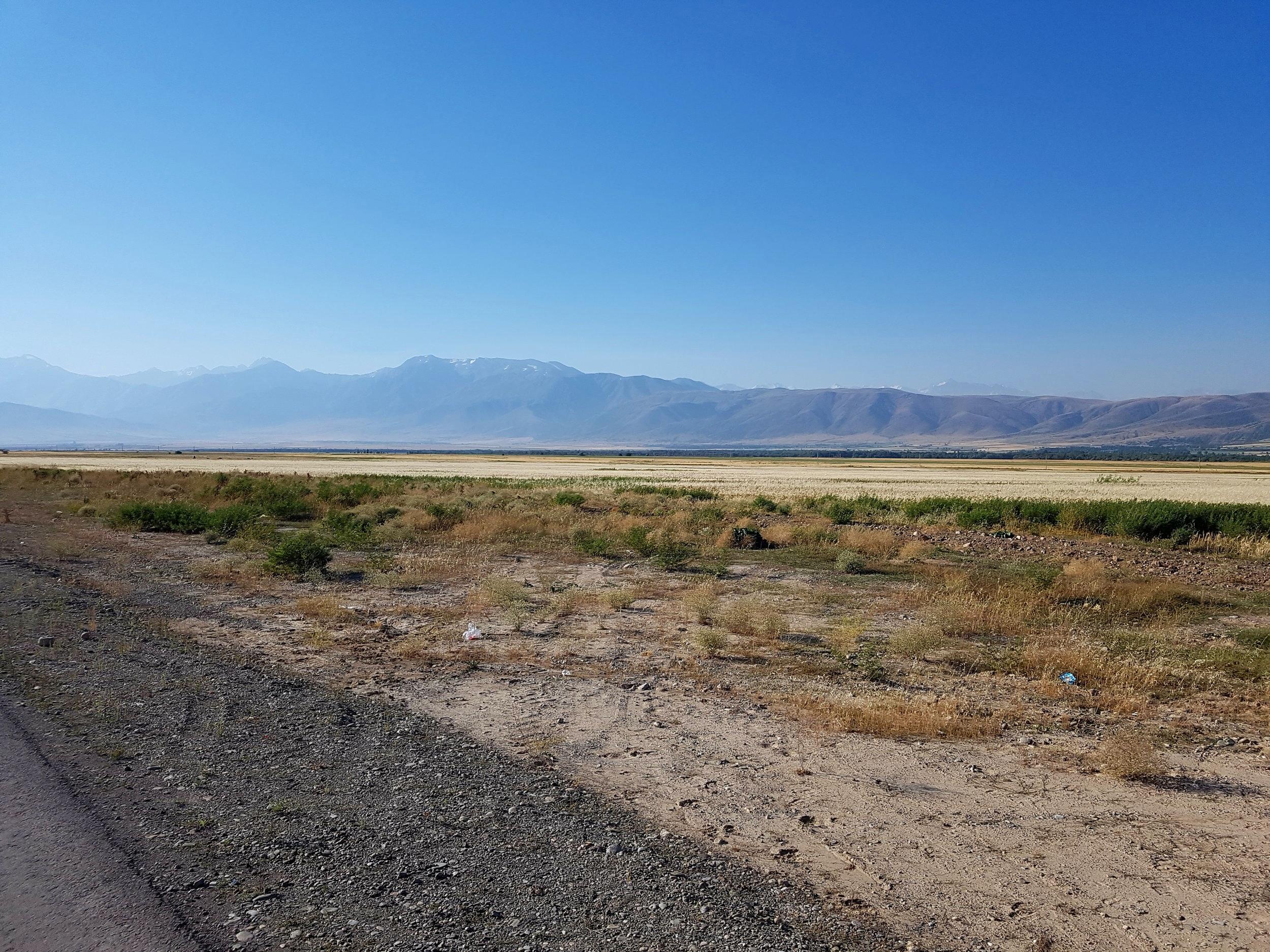 The desolate and beautiful Kazakhstani landscape.