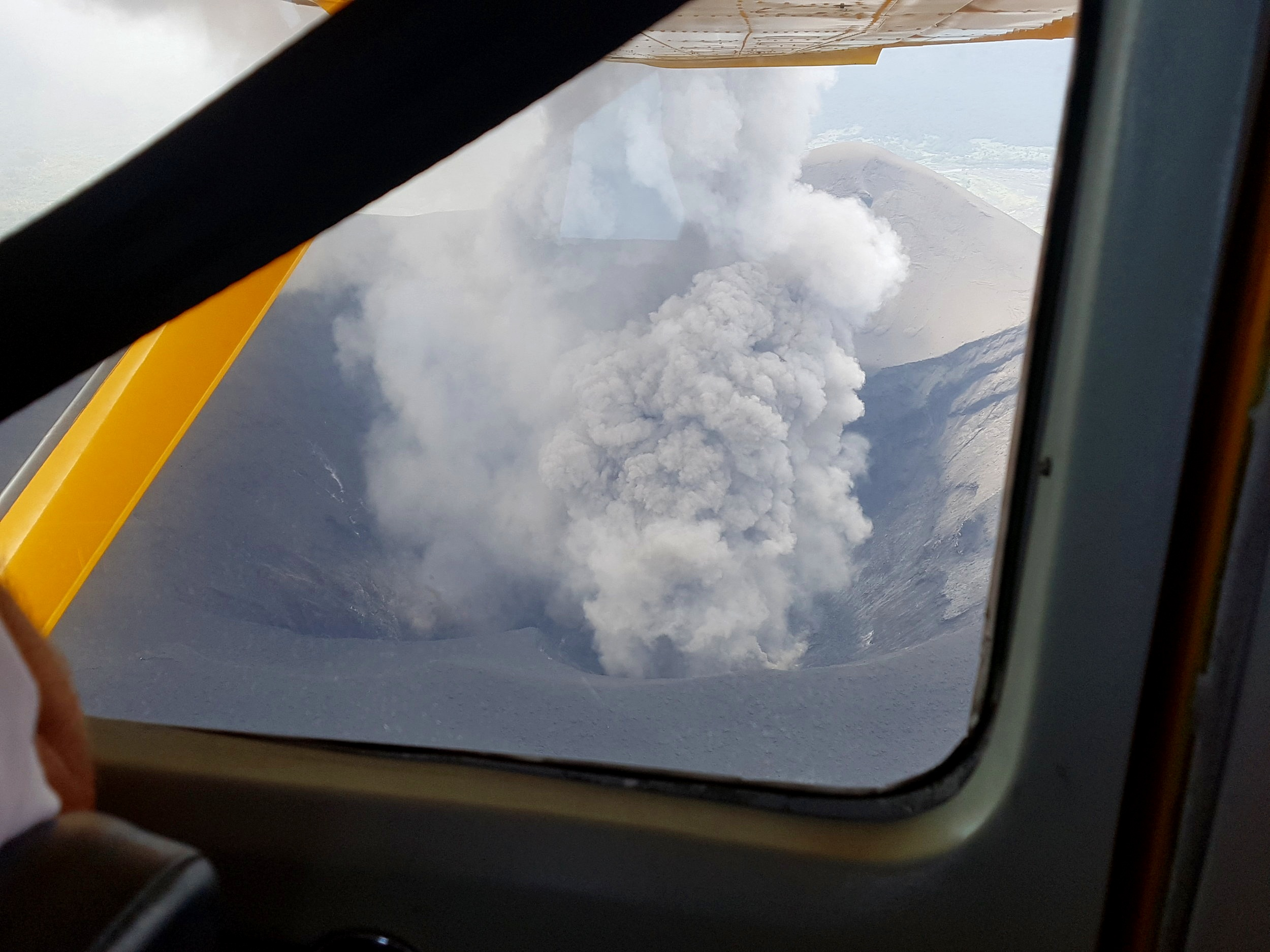 I'm pretty sure all flights in Europe were grounded when that volcano erupted in Iceland in 2010. Turns out flying directly over a volcano is fine in Vanuatu.