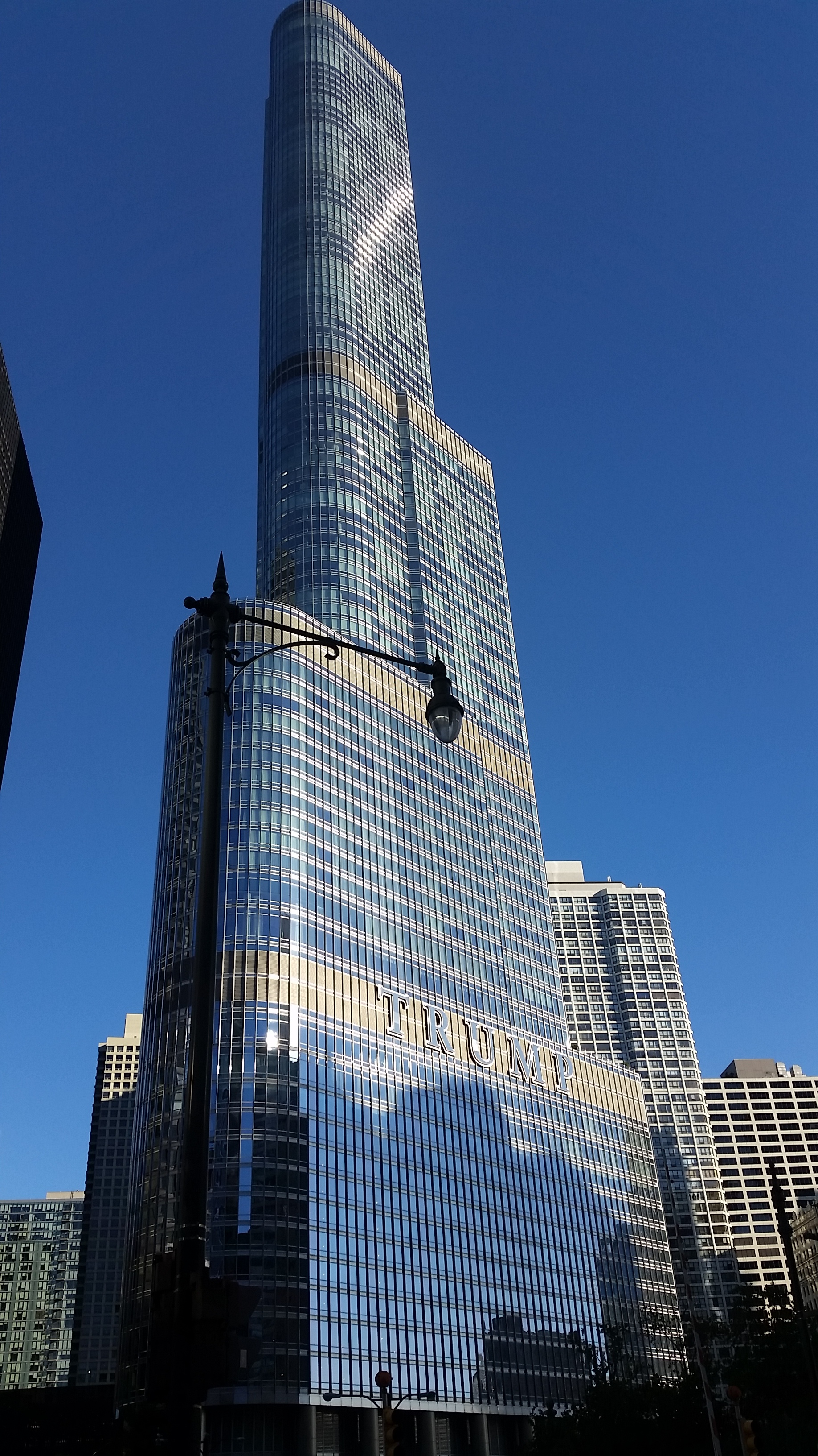 Trump tower in Chicago. The greatest, most fantastic and least racist tower you've ever met.