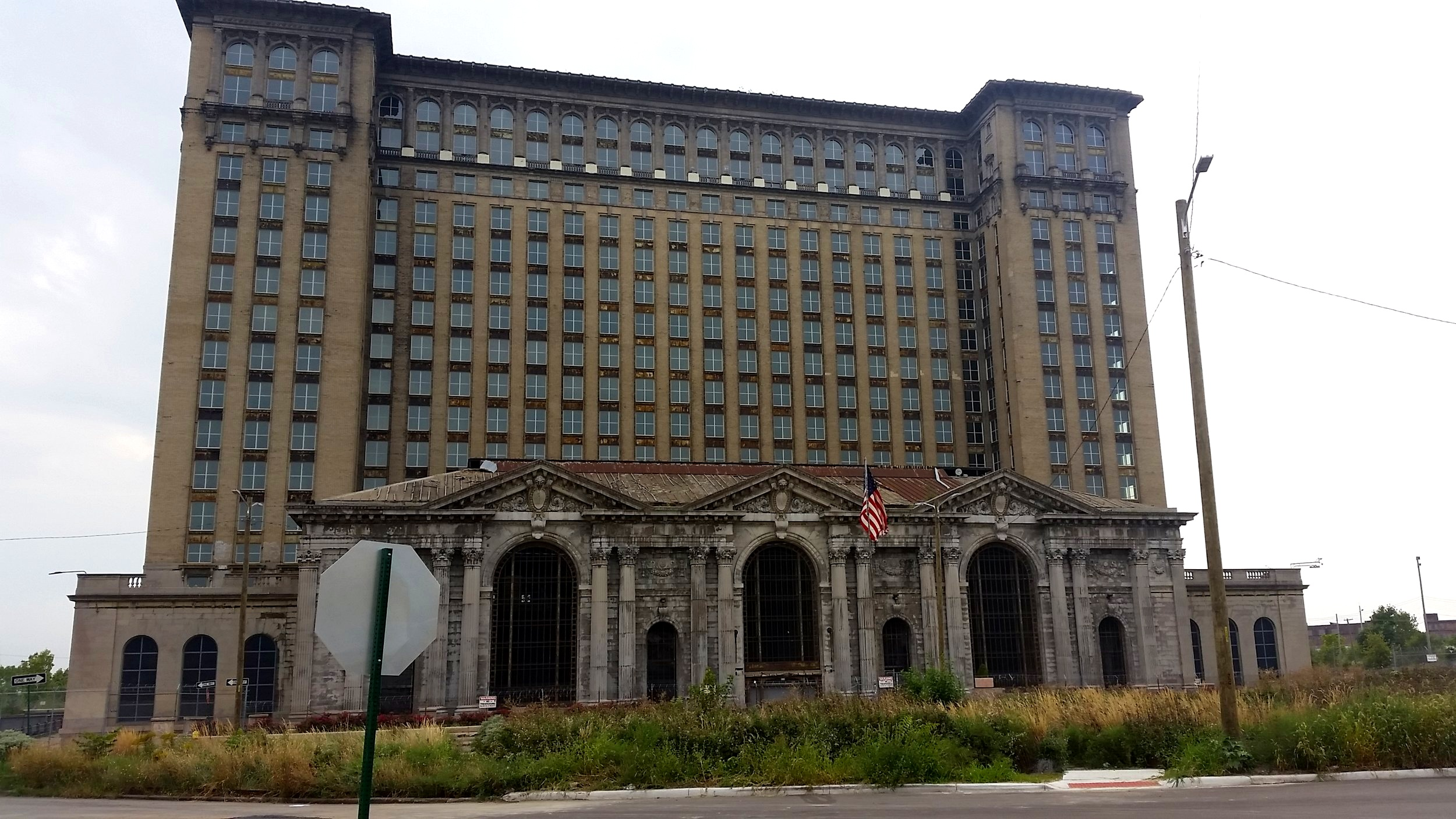 Michigan Central Station, which has been closed since 1988.