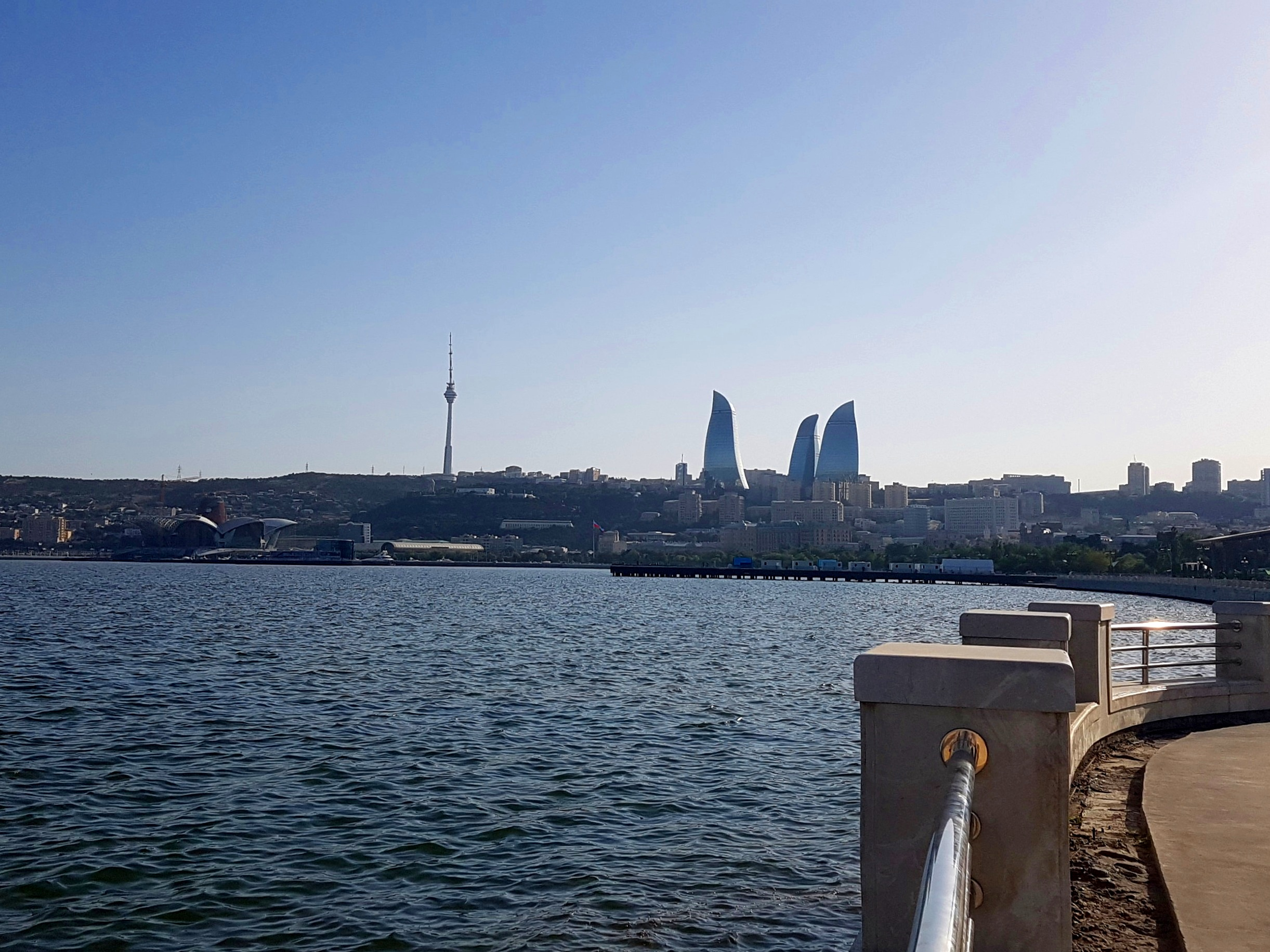 The skyline of Baku.