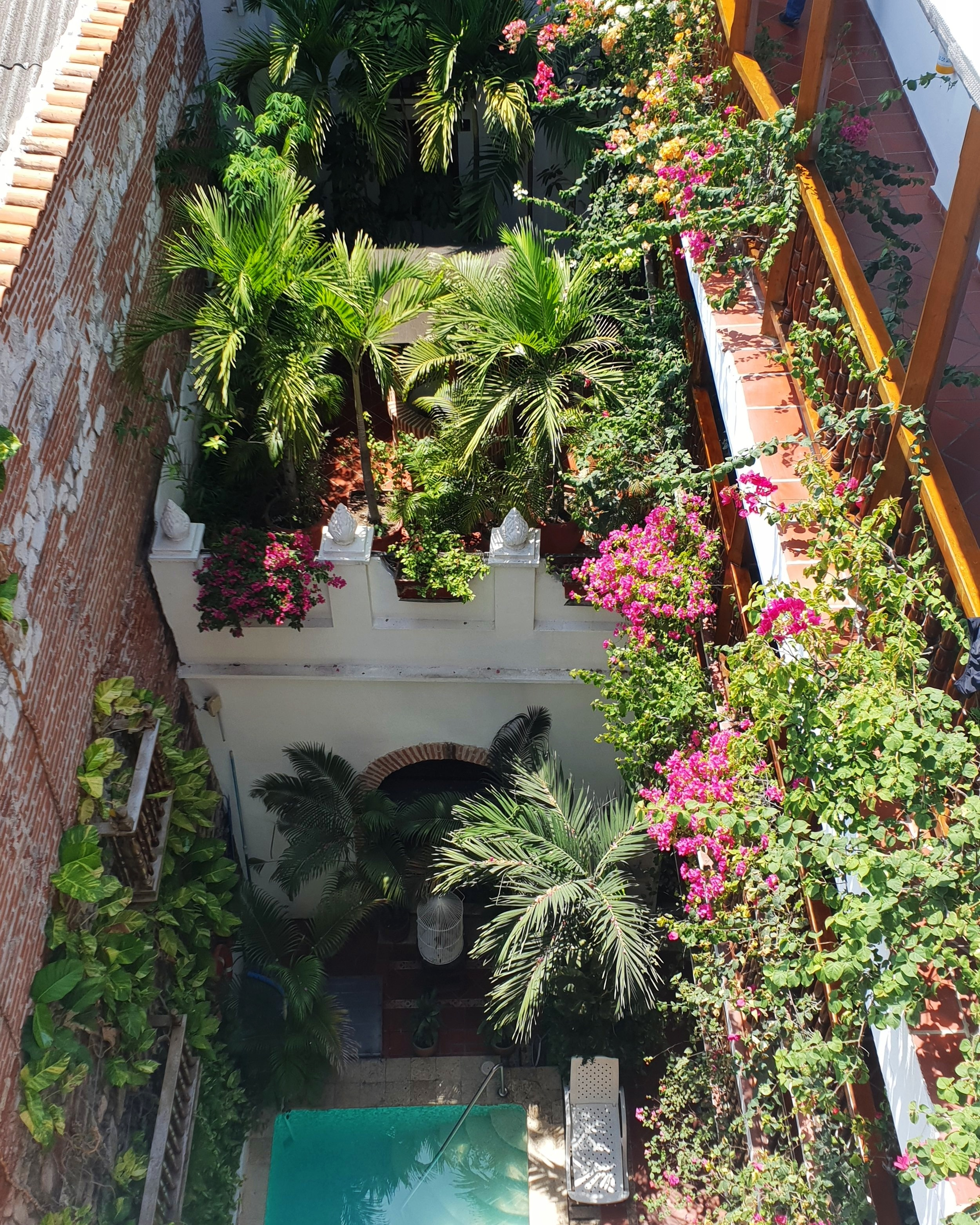 Cartagena is famous for its colourful courtyards, as well as its rooftop bars.