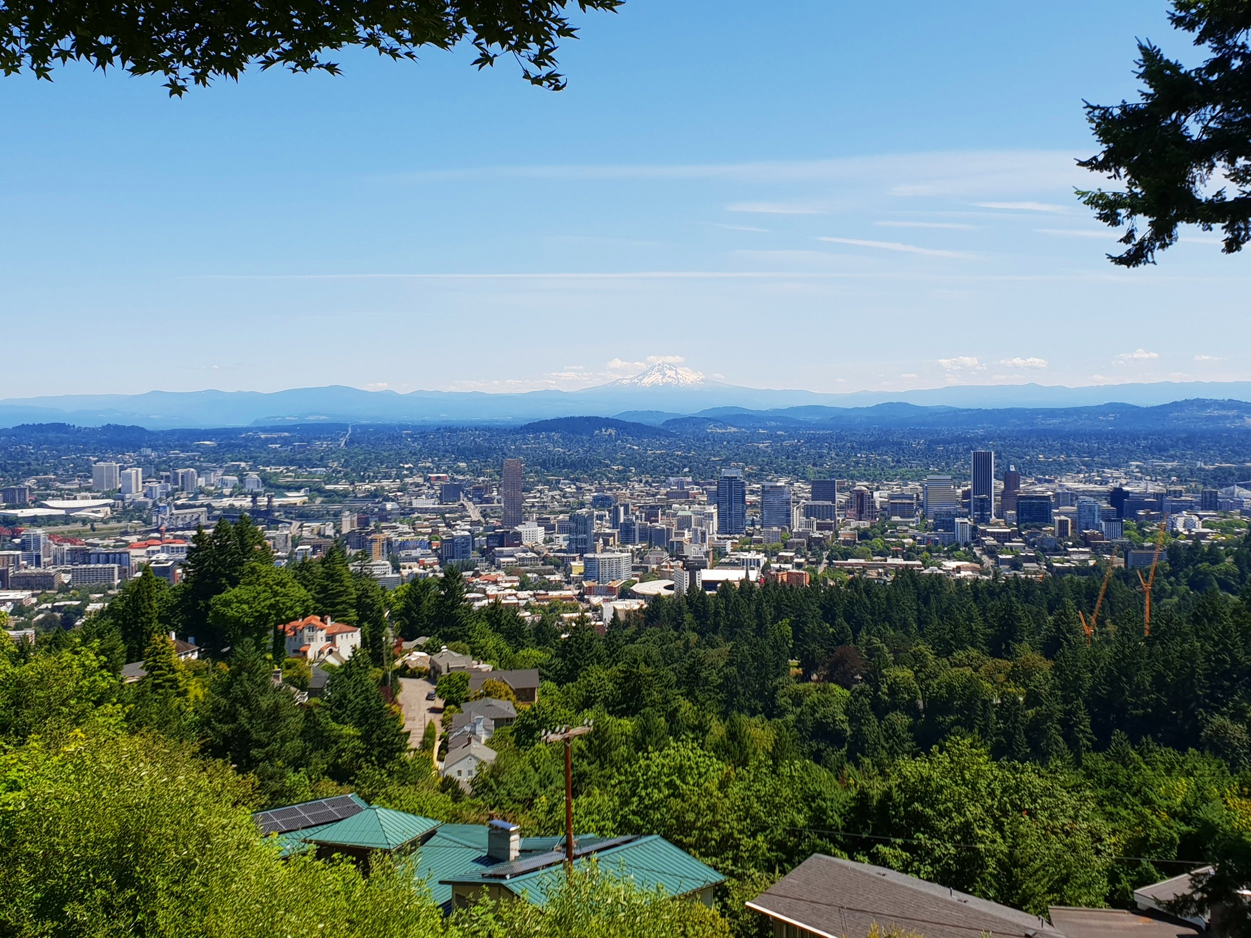 Portland (obviously). Mount Hood looms over the city, much like Mount Fuji in Japan. I've just mentioned this in an attempt to ram home the point that I like to travel, in a way that potentially disguises the fact that I am boasting. Just like anyone who posts anything on social media.