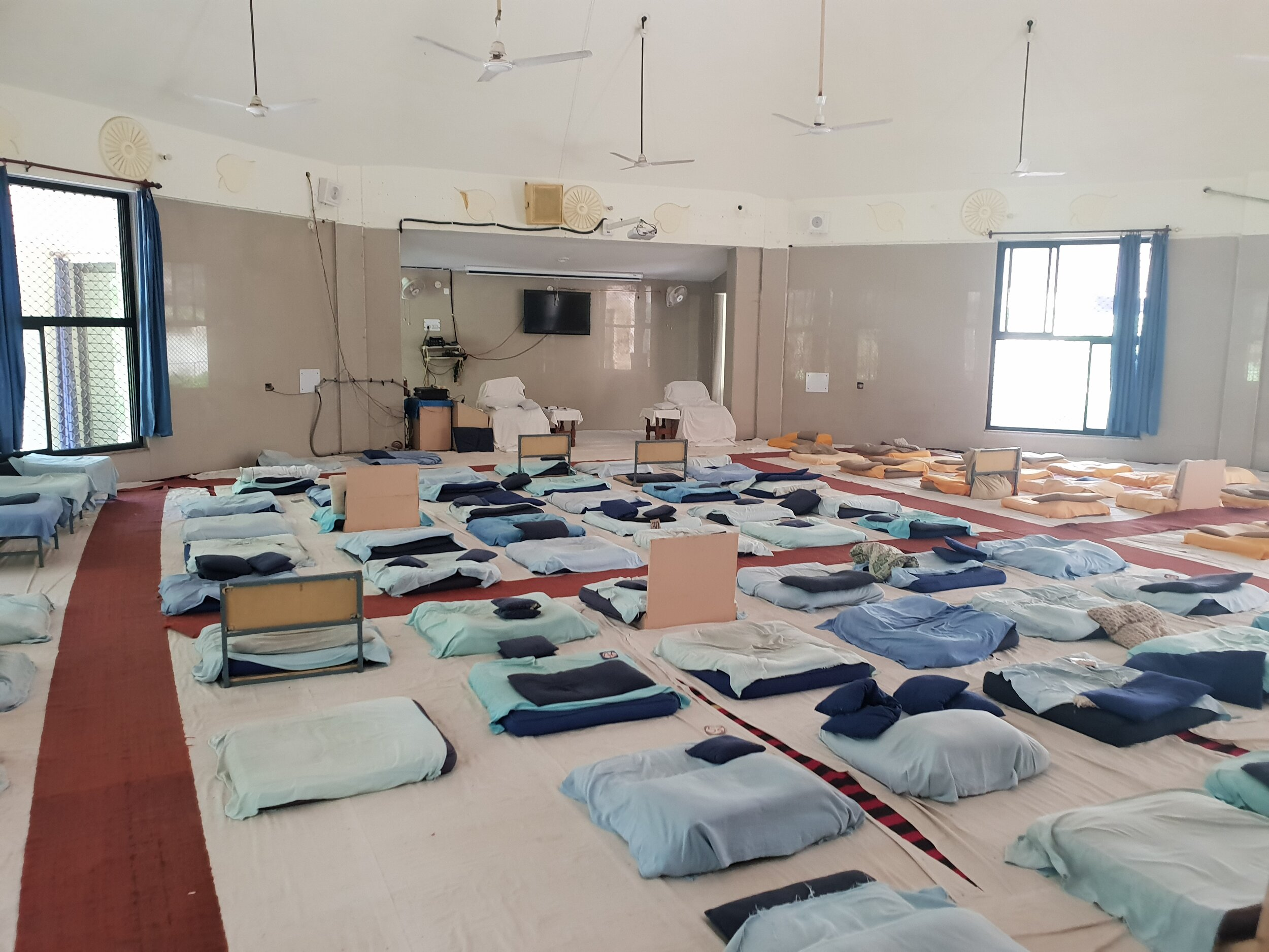I spent around 100 hours sat in this sweaty room over the course of the retreat.