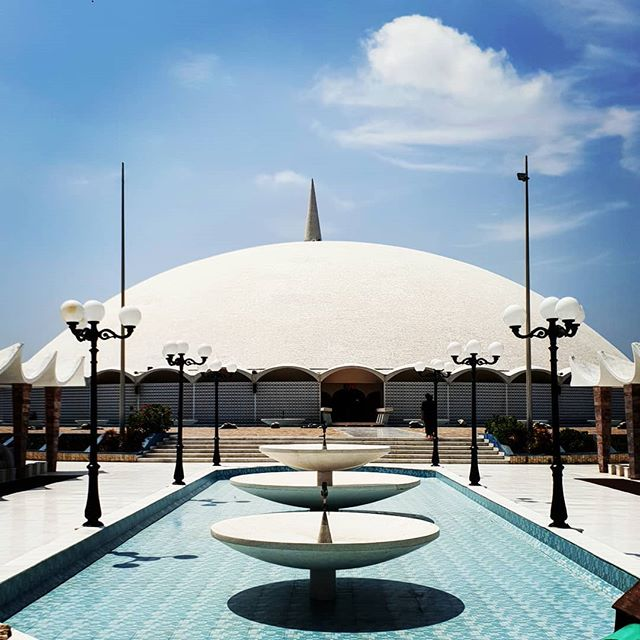 Country 139 - Pakistan. This is Tooba Mosque, Karachi. It isn't the Millenium Dome, which some may find surprising. Constructed in 1969, it is made of pure white marble. It seems huge, but ranks just 18th in the list of the worlds largest mosques. I like how the design still looks so contemporary, despite the building being almost 50 years old. And also how they have kept it so white, in a city not known for having clean air. . . . #chasing193 #travelerscenturyclub #thetravellingape #dailywanderlust #wanderlustdaily #chasing195 #travelsolo #everycountryintheworlrd #digitalmomad #travel #picoftheday #instapassport #themoreyouknow #everycountry #roamtheplanet #letsgosomewhere #neverstopexploring #exploretheworld #pakistan #travelpakistan #karachi #travelkarachi #toobamosque
