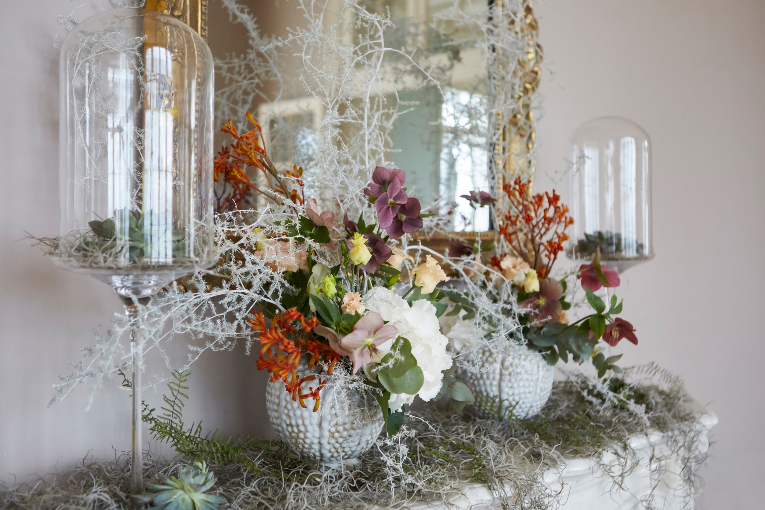 flower composition, french normandy wedding