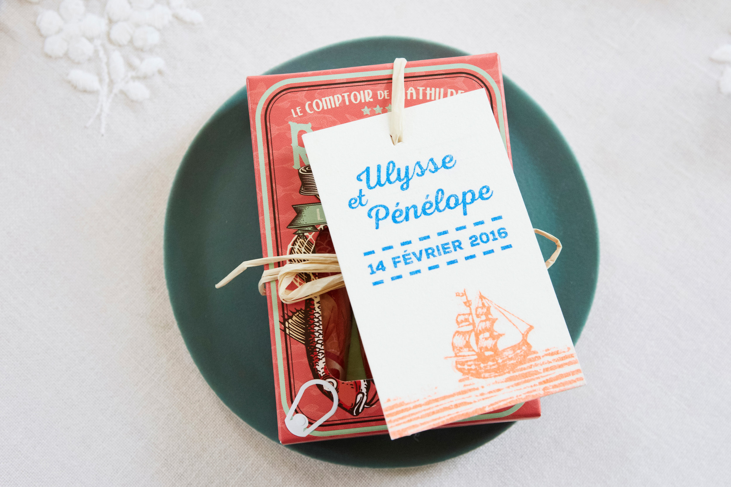 stationery by 2 Fois Oui, french normandy wedding