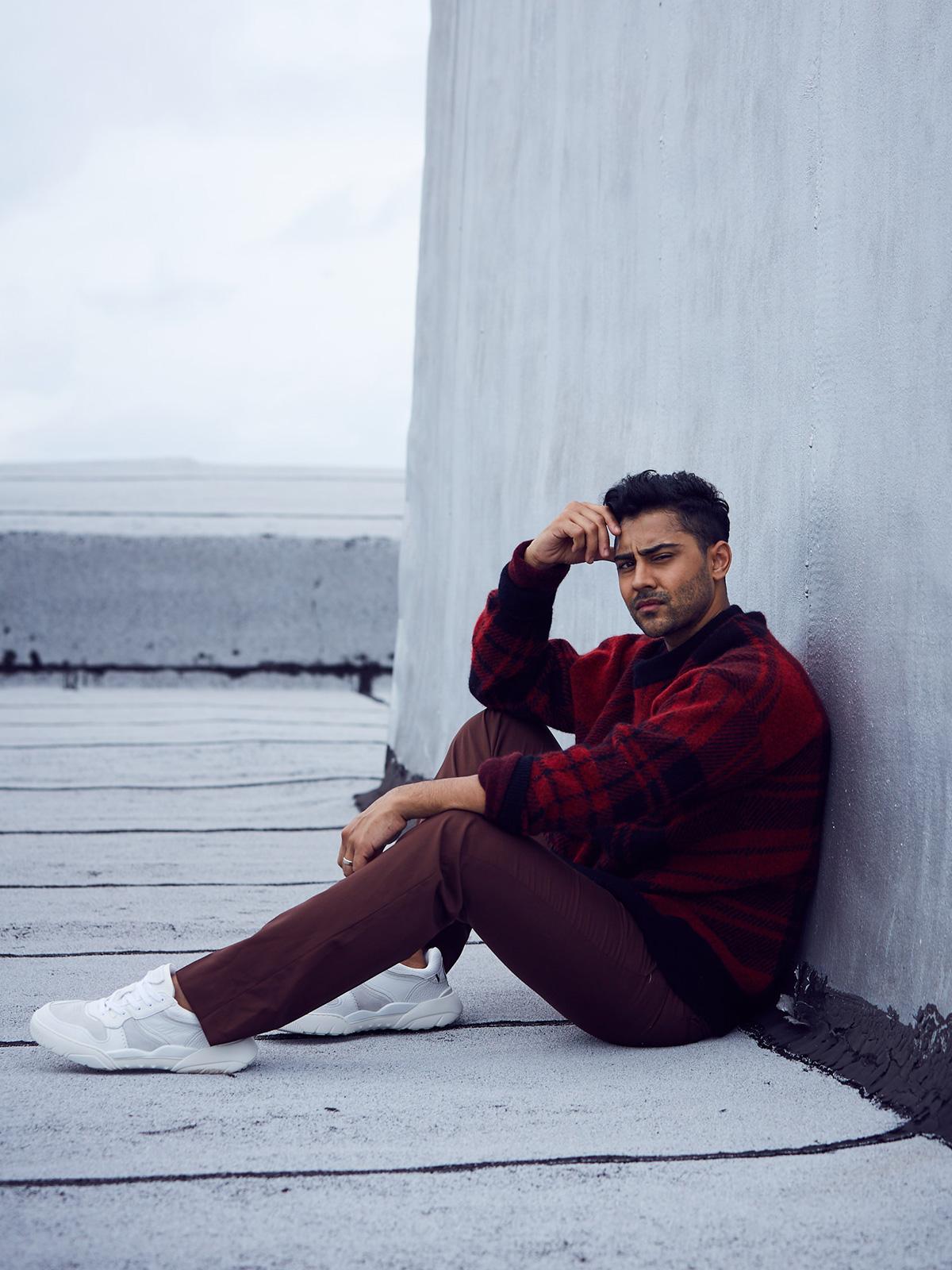 Sweater: Michael Kors, Shoes: Valentino