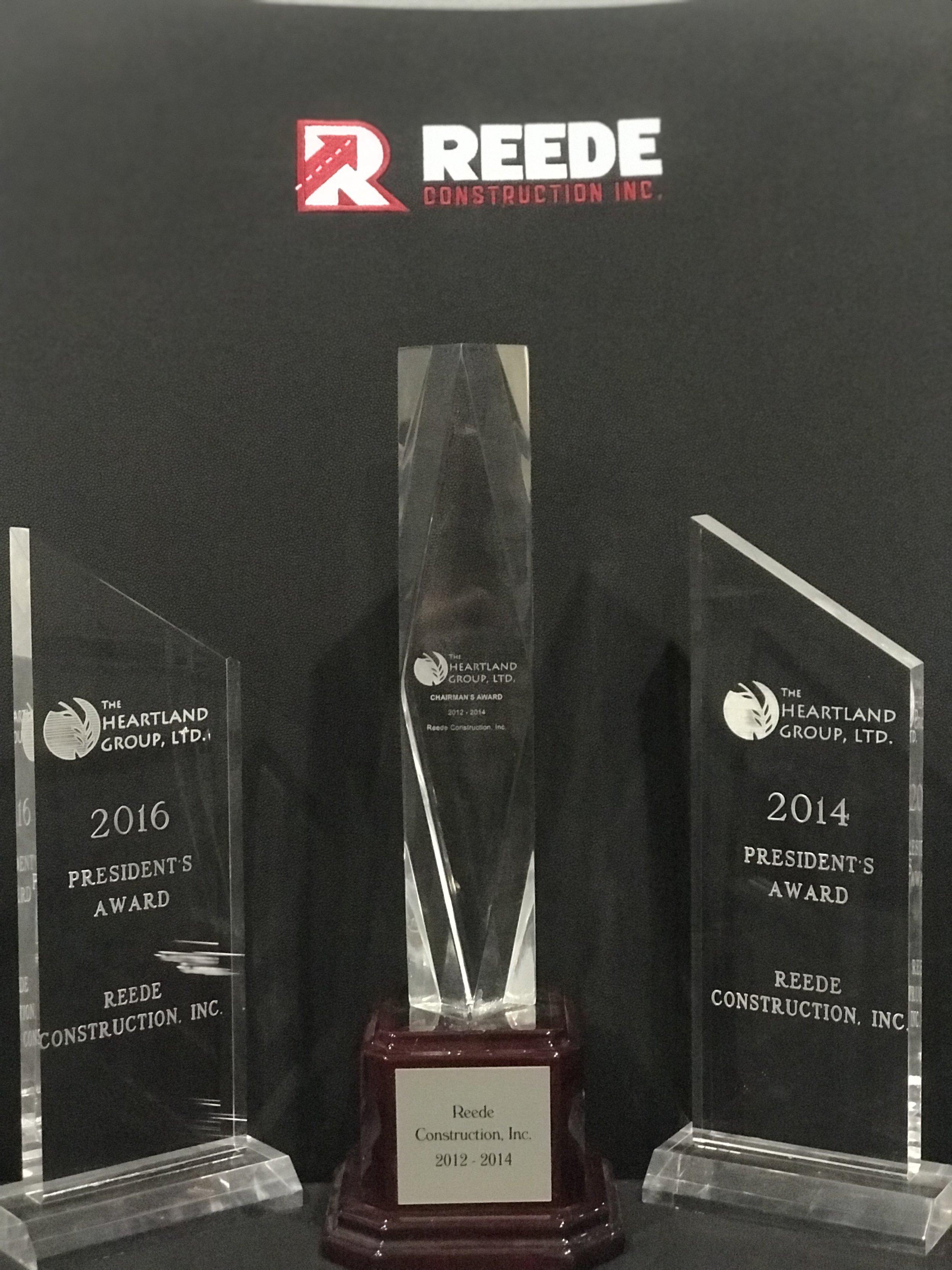 2014 & 2015 President's Award. 2012/2014 Chairman's Award