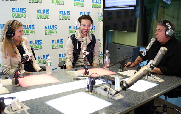 "NEW YORK, NY – MAY 12: Julie Lewis, Ryan Lewis and Elvis Duran visit ""The Elvis Duran Z100 Morning Show"" at Z100 Studio on May 12, 2014 in New York City. (Photo by Robin Marchant/Getty Images)"