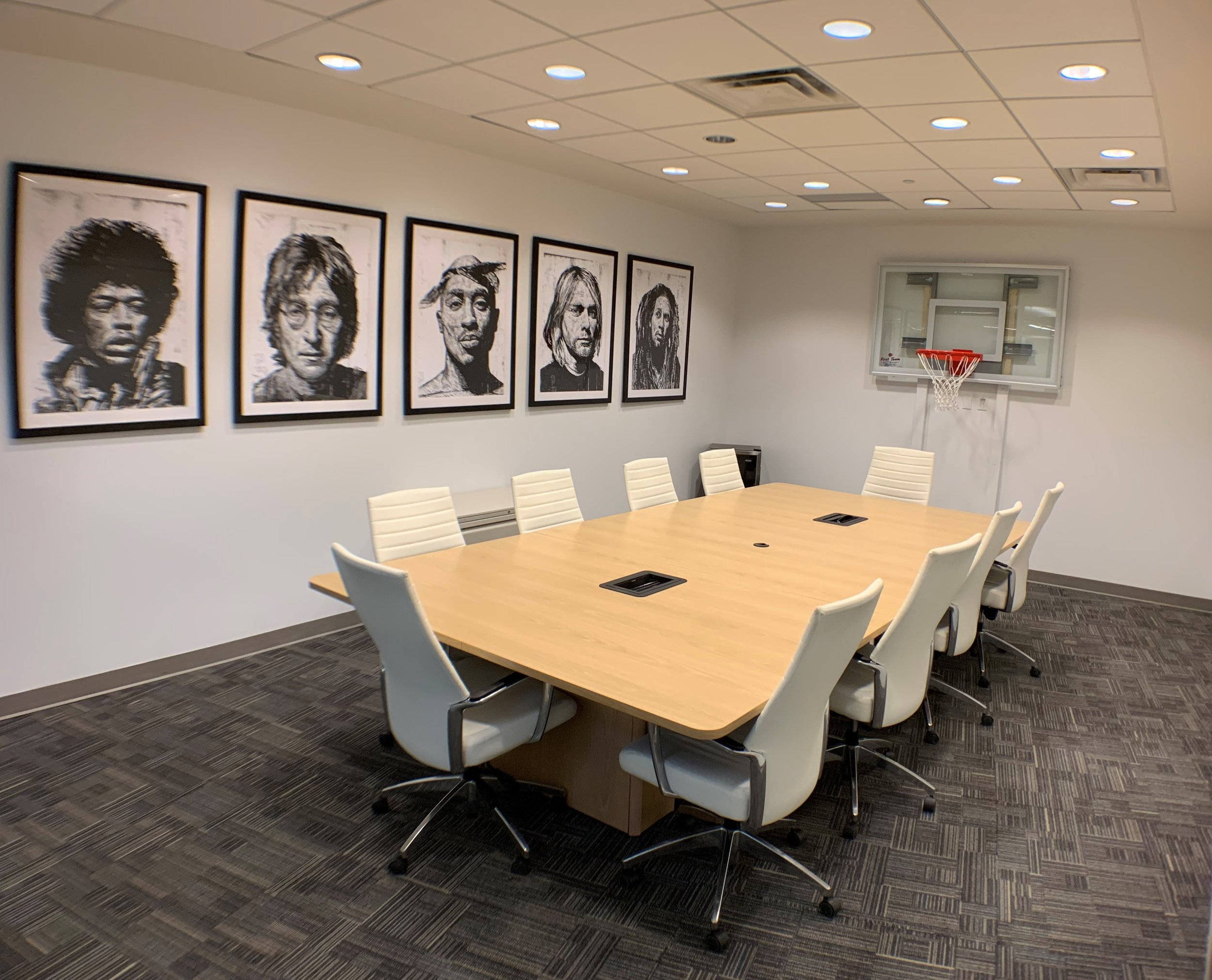 Naismith Room - Named after the inventor of basketball, this meeting room seats up to 10 guests with extra space for food and beverages.