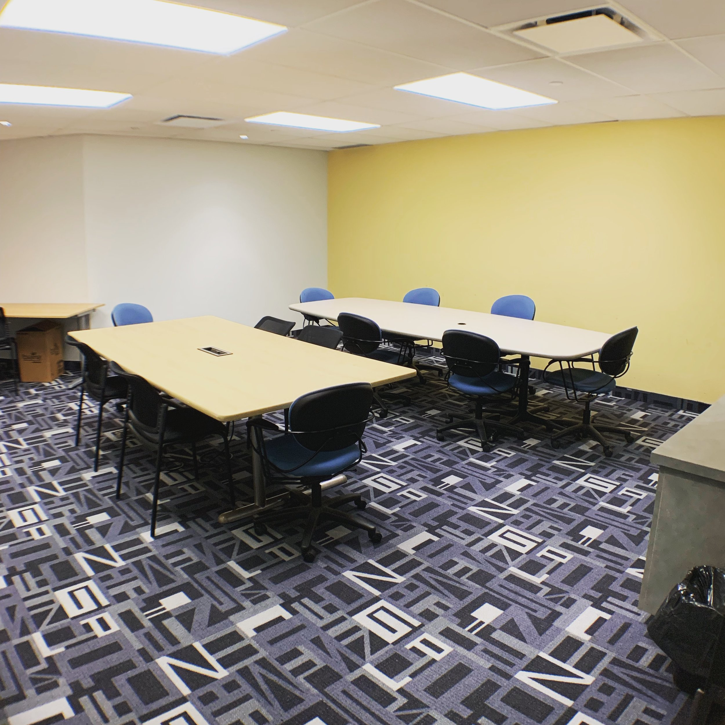 Workshop Room - Looking for a place to hold your workshops? Our workshop room has seating for up to 12 people and has lots of additional space for supplies to ensure that your classes run smoothly.