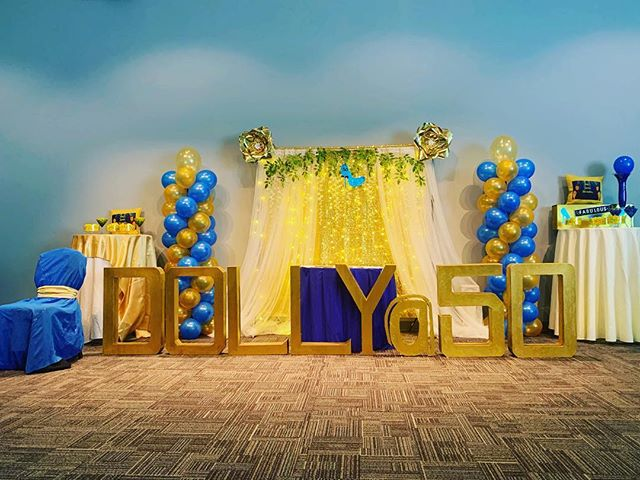Incredible setup for an incredible party! #evolvingspaceeventroom #madisonspringsconferencecenter #50thbirthday #litbackdrop #eventsetup #eventroom #inthespotlight #birthday #creativityisendless #creativedesign