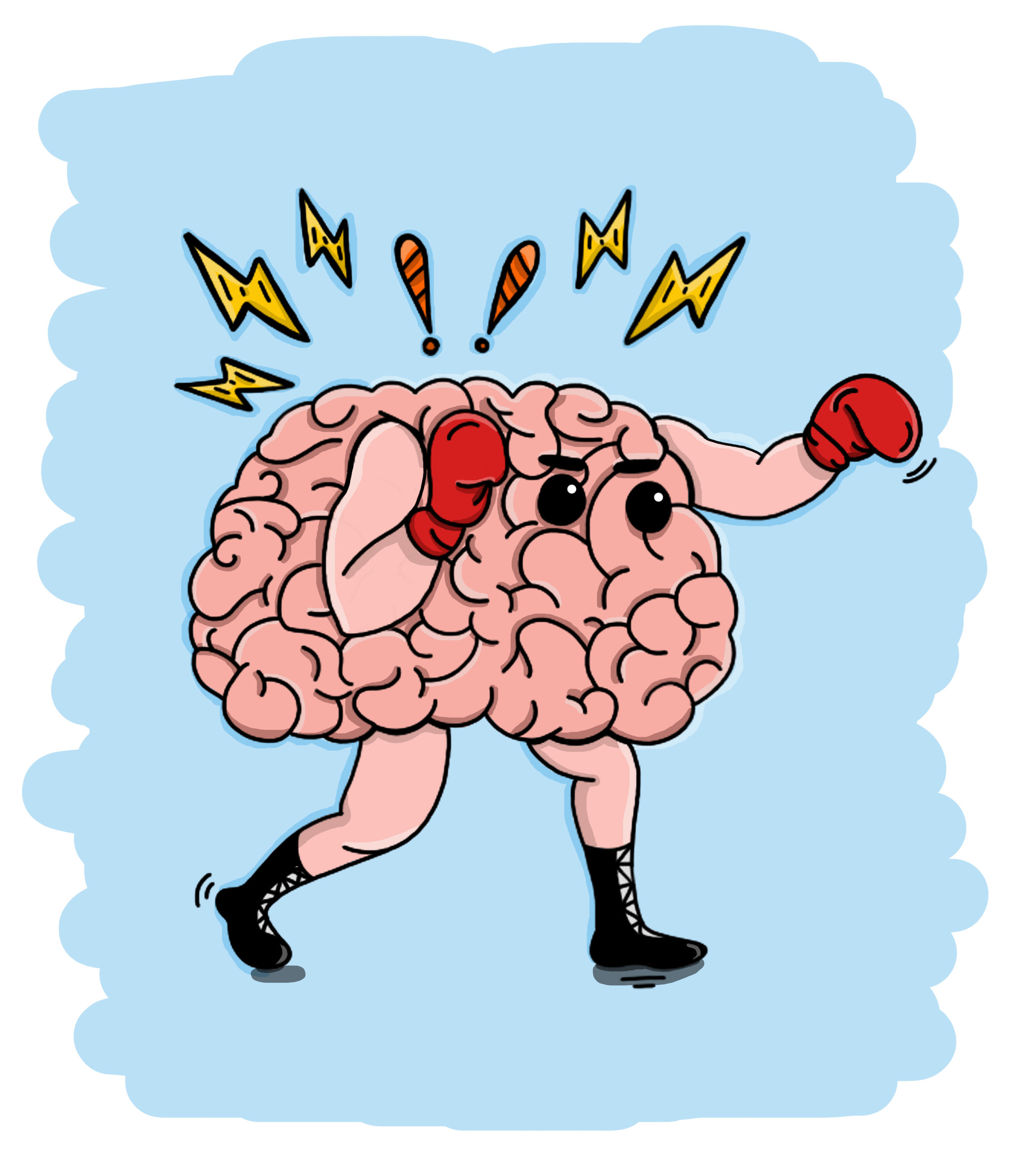 An autistic brain ready to fight through the day.