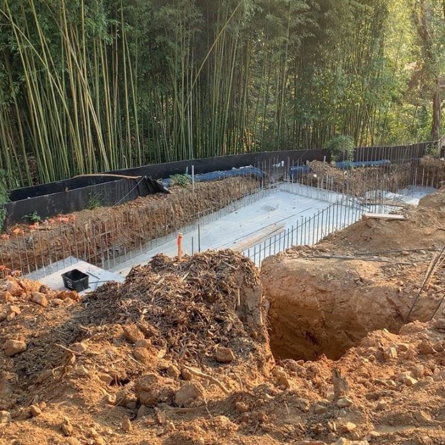 4630 Cathedral Ave NW footings poured.  4640 Cathedral Ave framing commencing.  Homes, site and spectacular setting coming into being.  www.threeoncathedral.com. @clivedengroup @jonesboerarchitects  @thomsoncooke  @zantzingerbuilt  @campionhrubyla  @casengdc  @amyzantzinger @leearrowoodsothebysrealty  @fleishergroup  @mr.p_studios