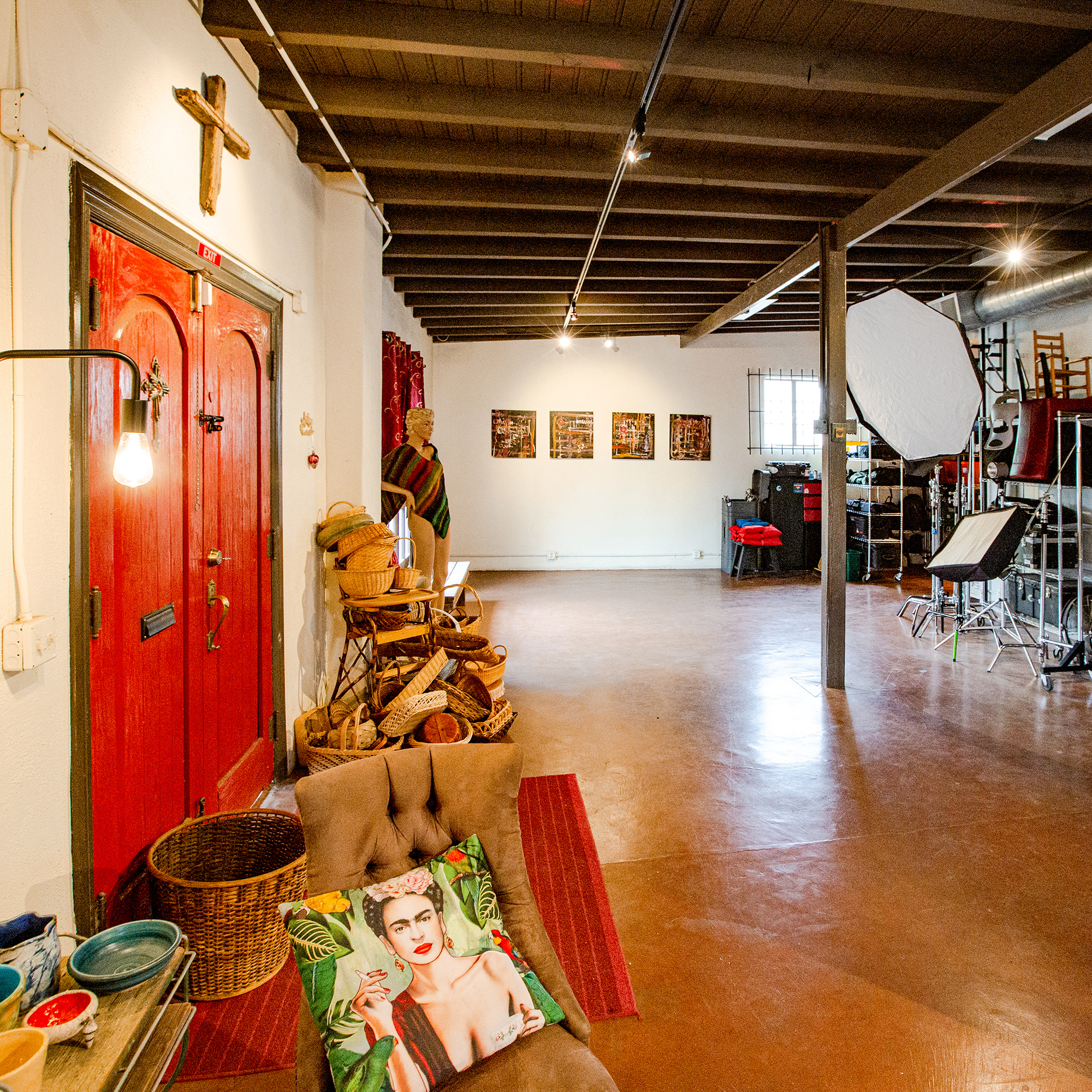 1,100 Square Foot Studio - Our main studio is perfect for all kinds of photography. People. Food. Product. You name it, we've likely shot it here. There's great indirect natural light in the afternoon and the ability to go very dark by closing blackout curtains. With an air conditioner unit dedicated to the space, we're cool when it's hot outside. Our studio, our dedicated restroom and most of the facilities are ADA accessible.