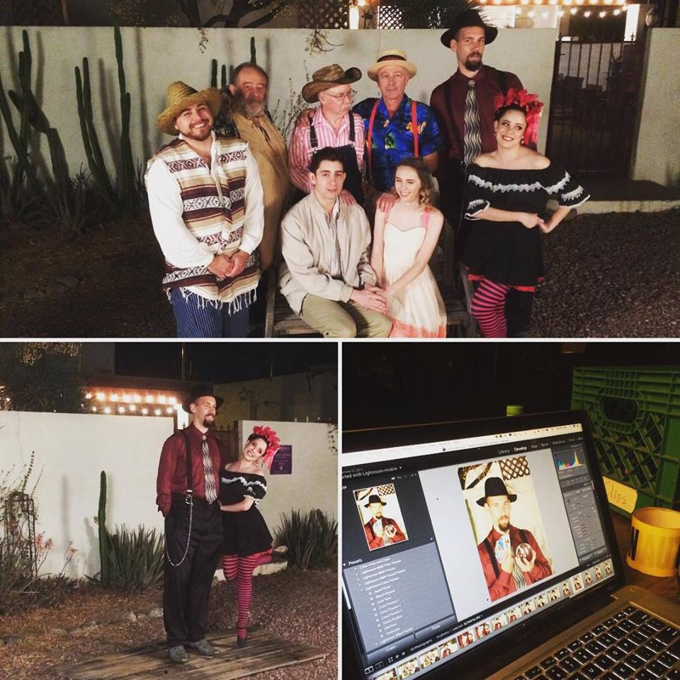 outdoor night shoot for Winding road theater ensemble's production of the fantasticks -