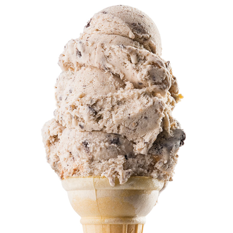 Other Ice Cream Flavors - Available in cone or cup.Black Walnut, Butter Pecan, New York Vanilla, Cookie Dough, Cookies and Cream, Chocolate Peanut Butter, Bubble Gum, and Mint Flake.Small Cone // Large Cone // Baby Cone